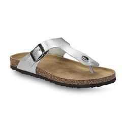 Joe Boxer Women's Amalie Silver T-Strap Sandal at Kmart.com