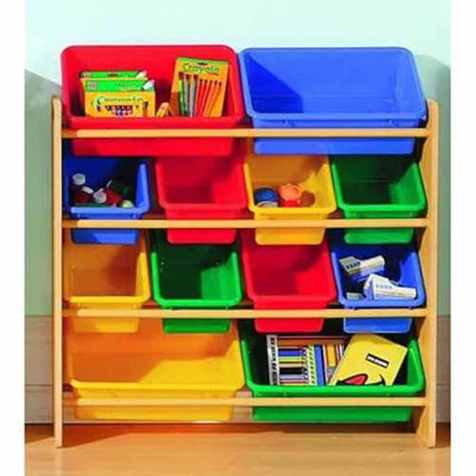 8 Kids Storage And Organization Ideas: Essential Home Kids 12-Bin Organizer