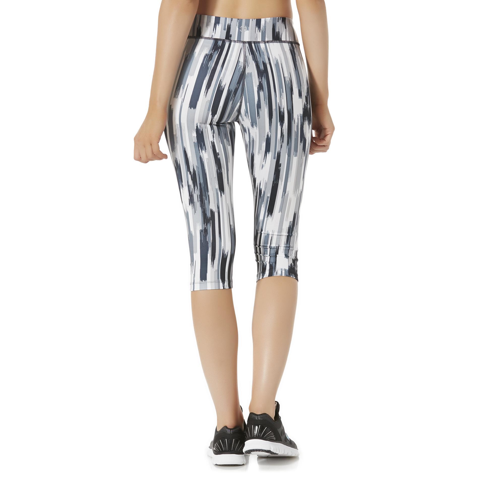 Impact by Jillian Michaels Women's Performance Capri Pants - Striped