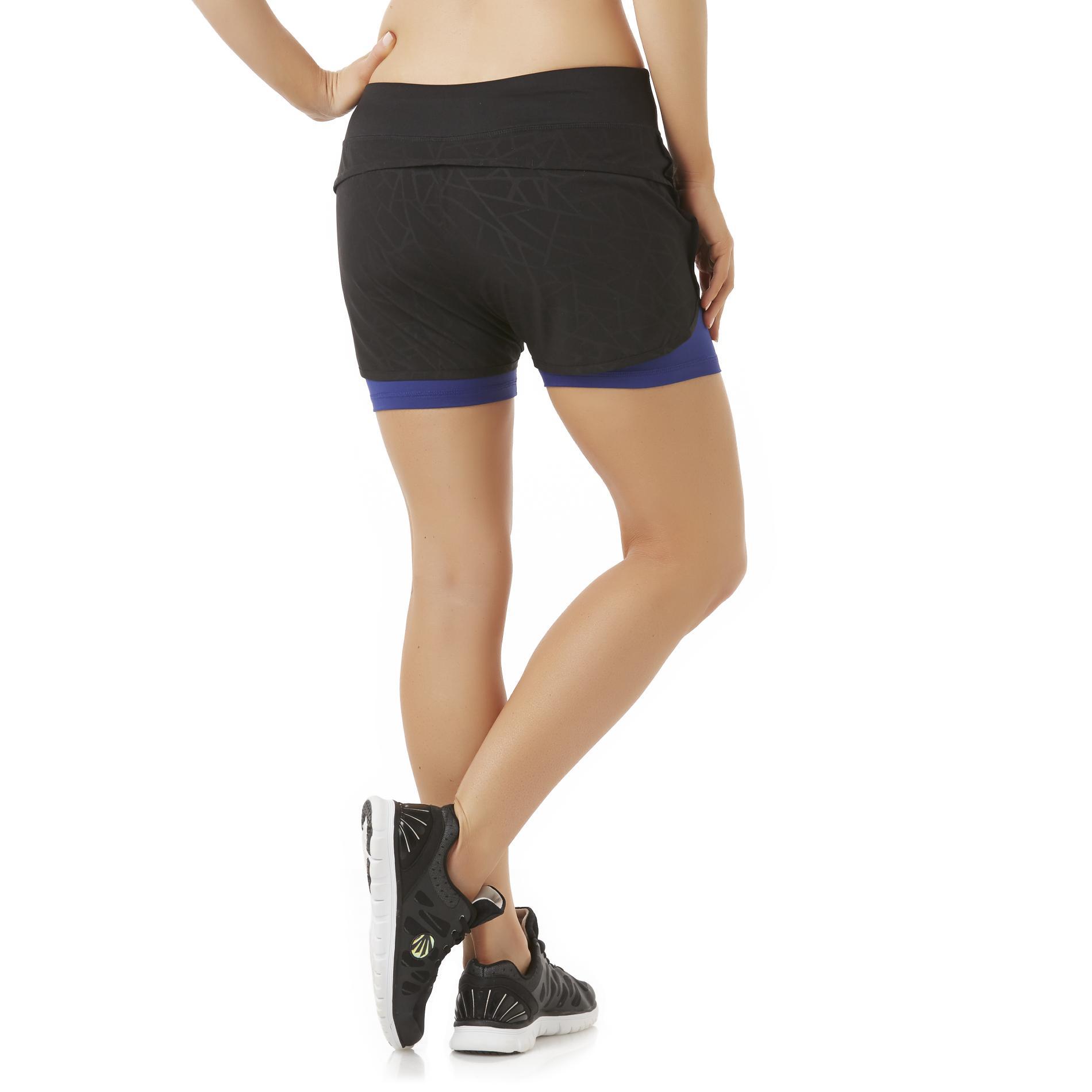 Impact by Jillian Michaels Women's 2-in-1 Running Shorts - Geometric