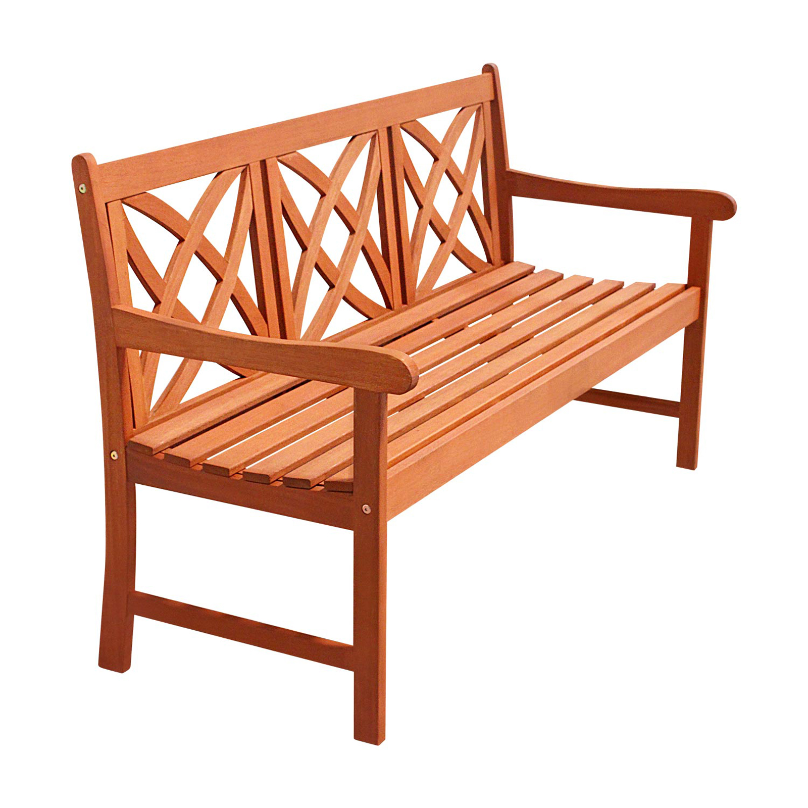 Vifah 5 Ft Wood Garden Bench