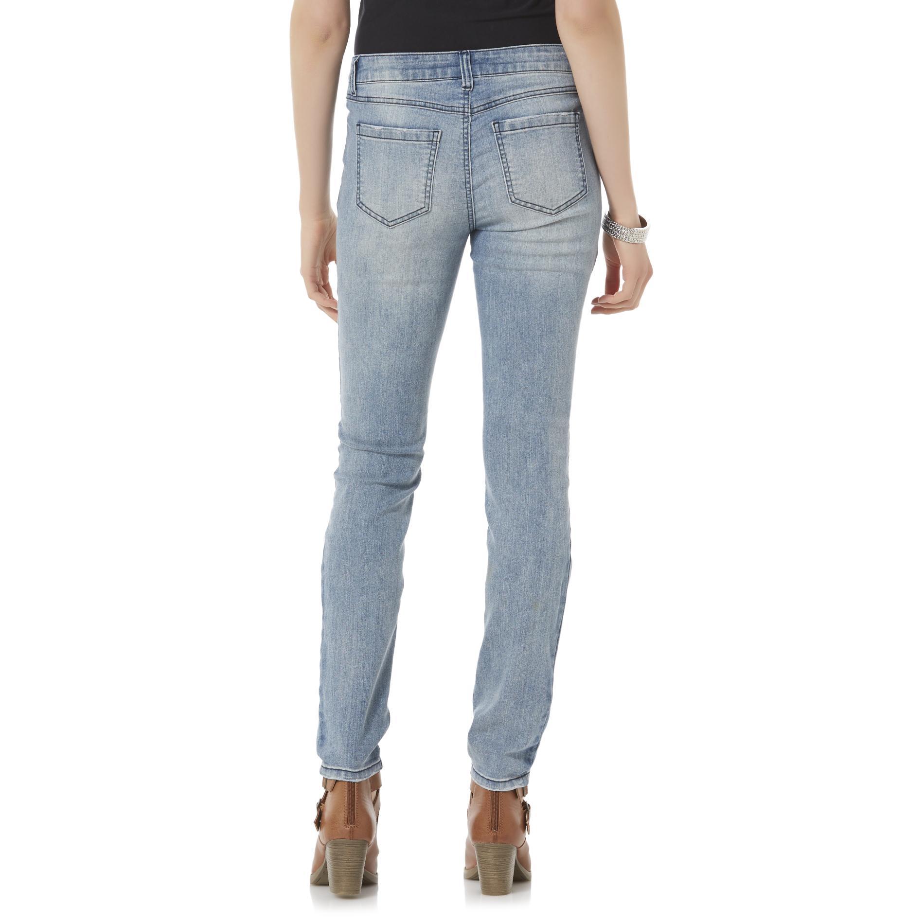 Rewash Junior's Vintage Reunion Deconstructed Skinny Jeans