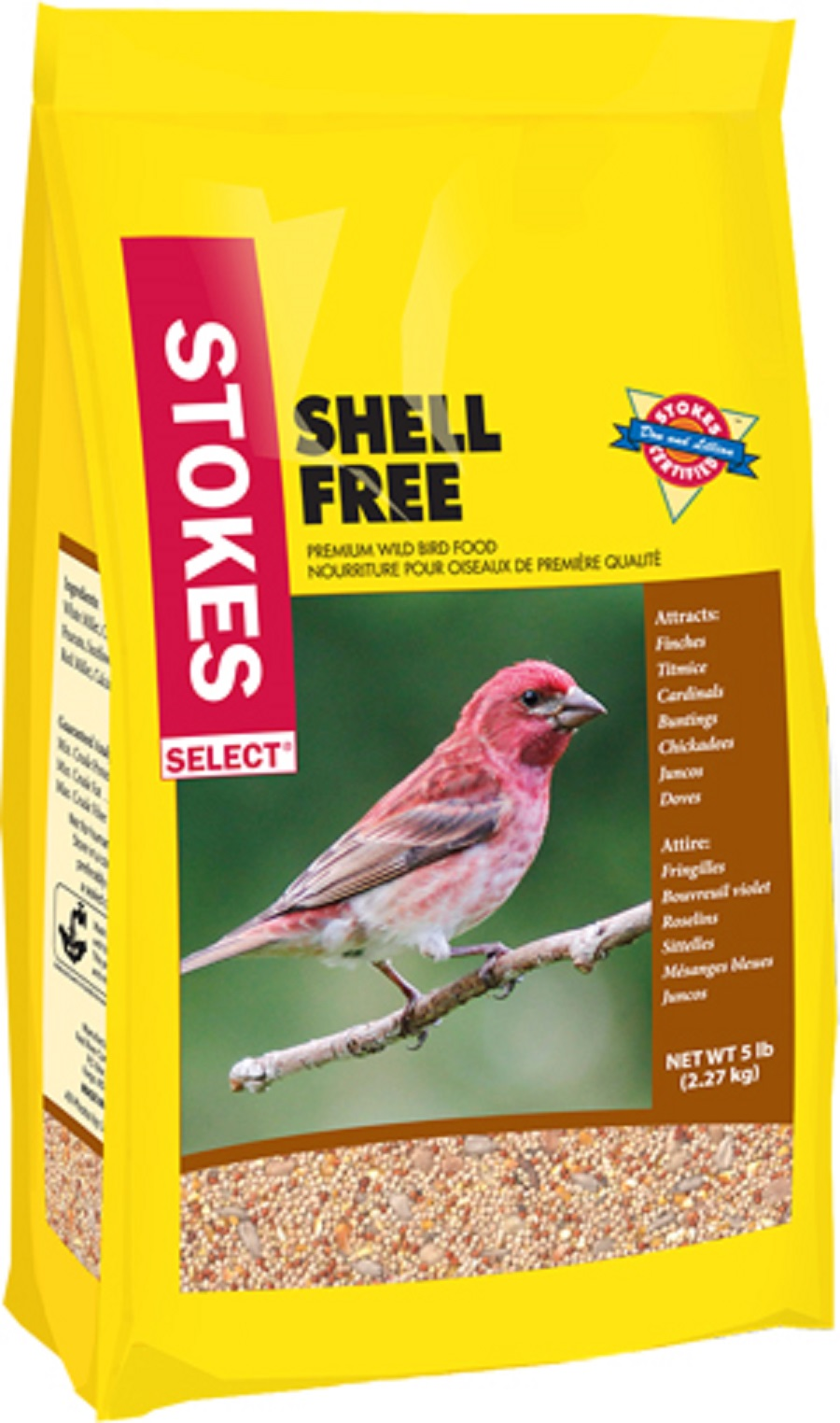 Stokes Select 009267 5 lb. Shell-Free Bird Seed PartNumber: 043W006683591001P KsnValue: 6683591 MfgPartNumber: 009267