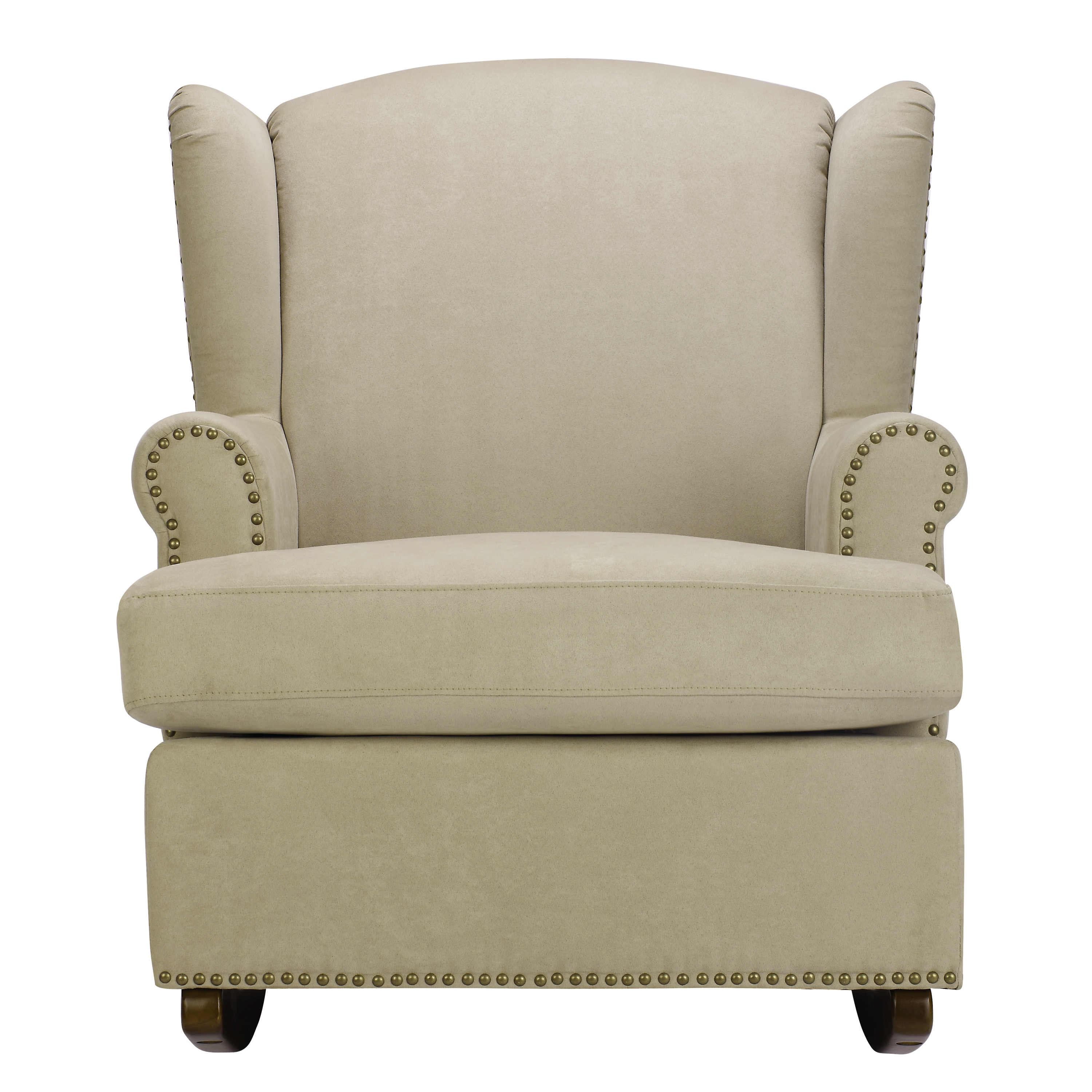 Dorel Harlow Wingback Rocker Chair With Nailheads, Multiple Colors
