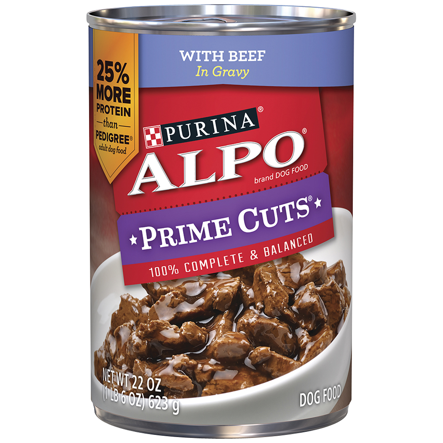 Prime Cuts With Beef in Gravy Dog Food