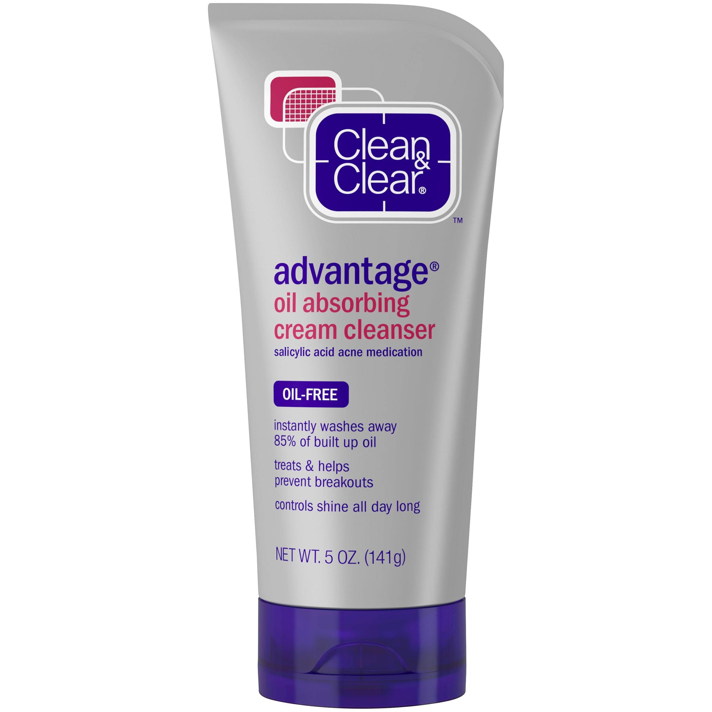 Clean & Clear Advantage Oil-Absorbing Cream Cleanser 0.5 oz PartNumber: 015W004923153001P KsnValue: 4923153 MfgPartNumber: 110240800