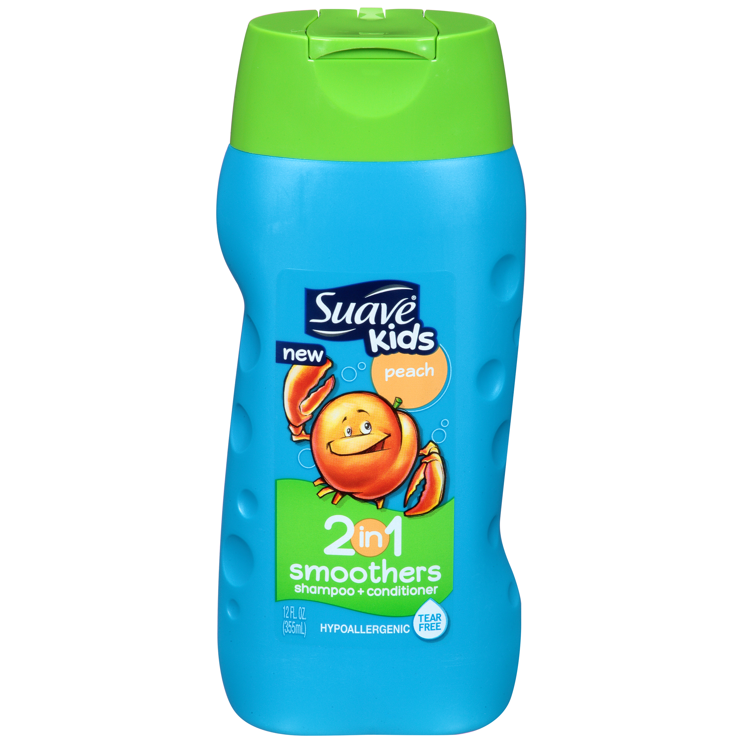 Suave Kids 2 in 1 Peach Shampoo + Conditioner 12 FL OZ PLASTIC BOTTLE PartNumber: 038W006913636001P KsnValue: 6913636 MfgPartNumber: 684011