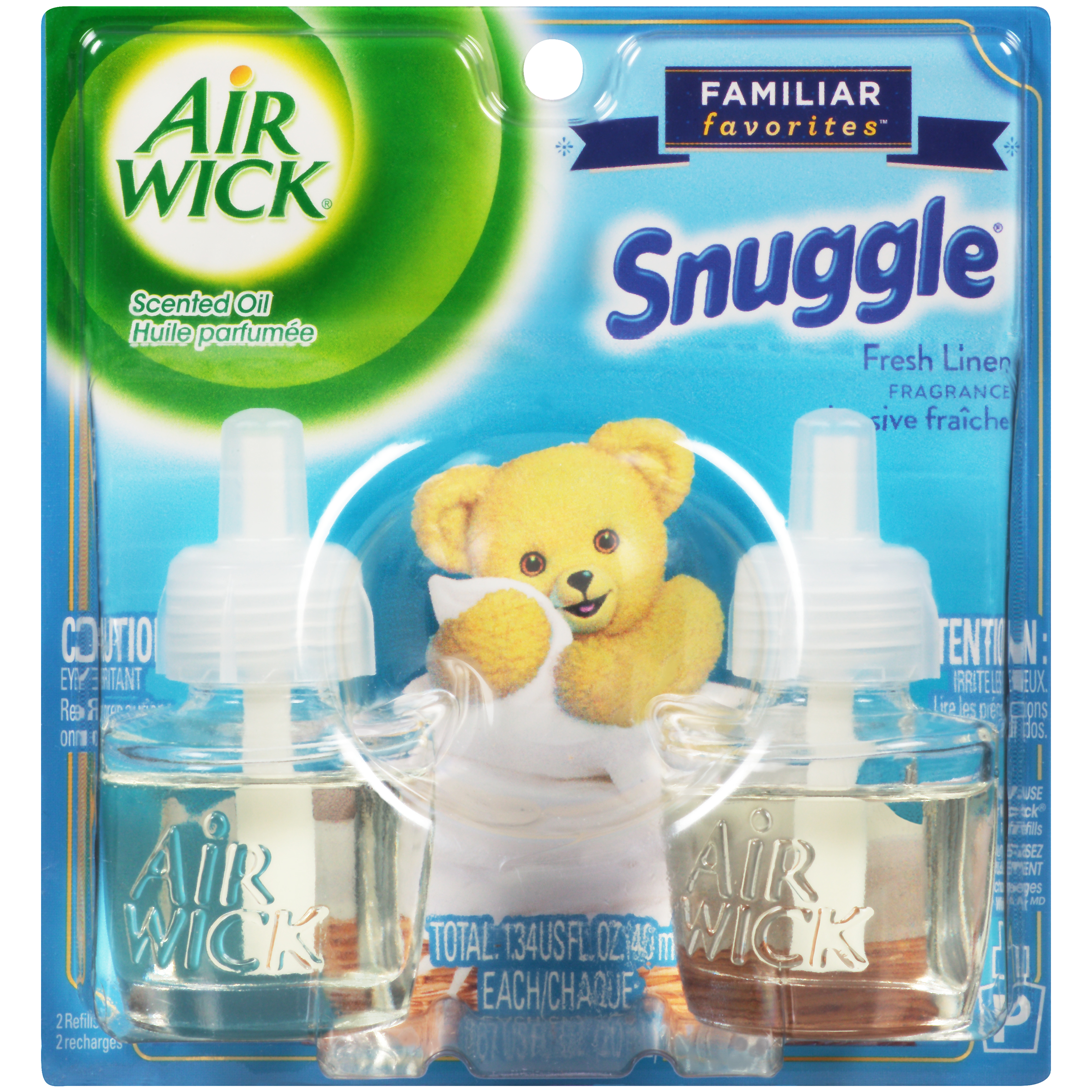 Airwick Scented Oil Snuggle Fresh Linen Air Freshener Refills 029W007359706001