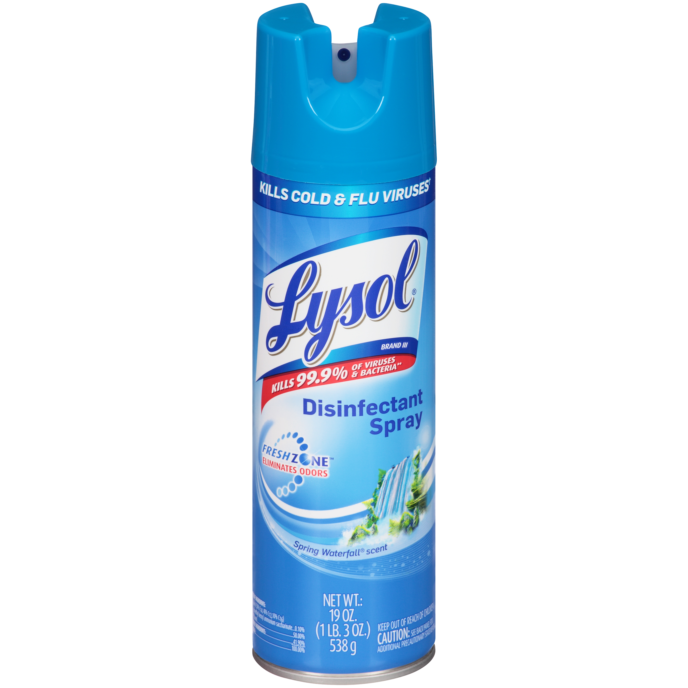 Lysol Spring Waterfall Scent Disinfectant Spray 19 OZ AEROSOL CAN PartNumber: 03282602000P KsnValue: 58860012 MfgPartNumber: 500-9326