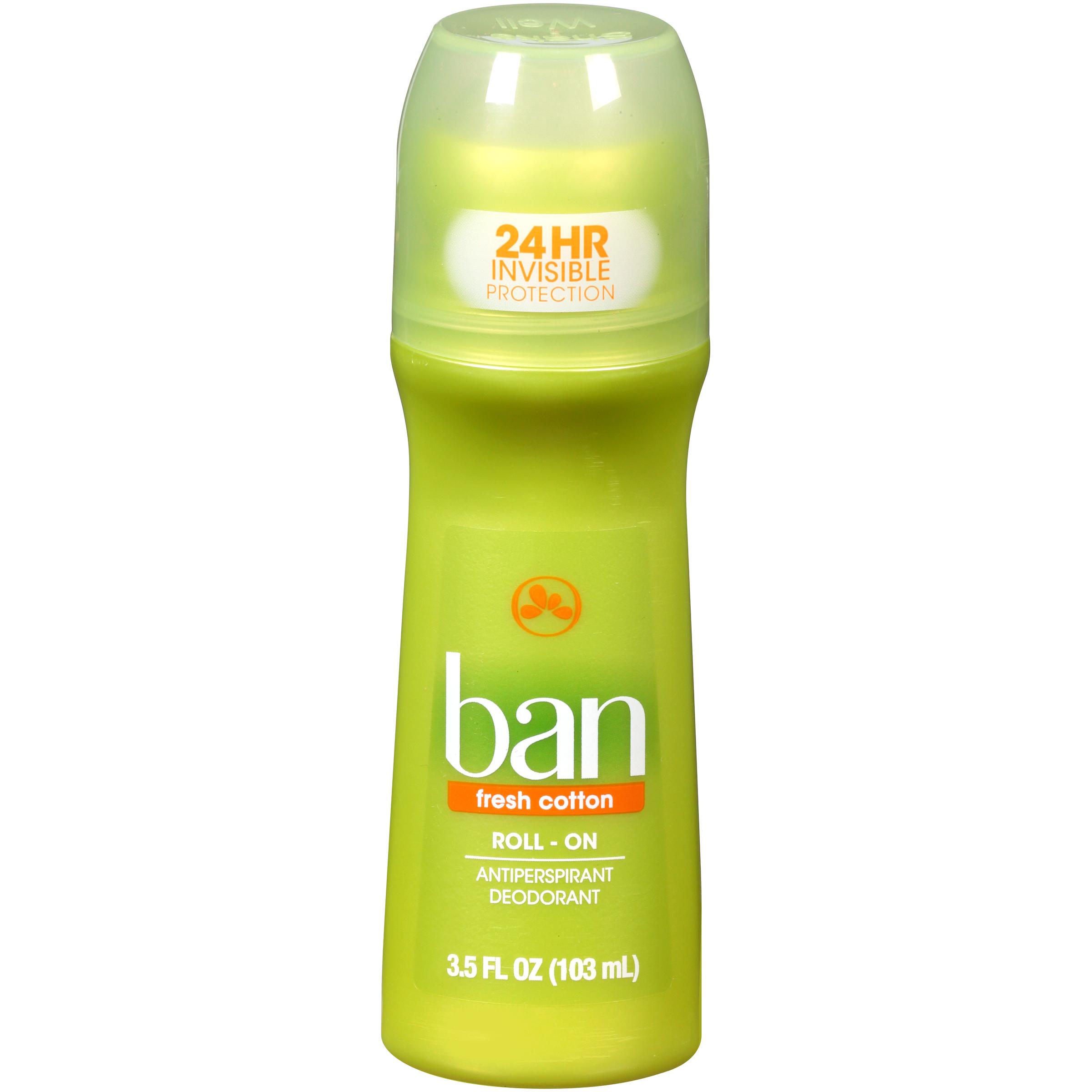 BAN Antiperspirant/Deodorant, Original Roll-On, Fresh Cotton, 3.5 fl oz (103 ml), Size: 3.5 oz. im test