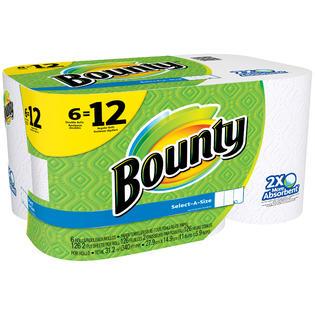 bounty paper towels 6 rolls