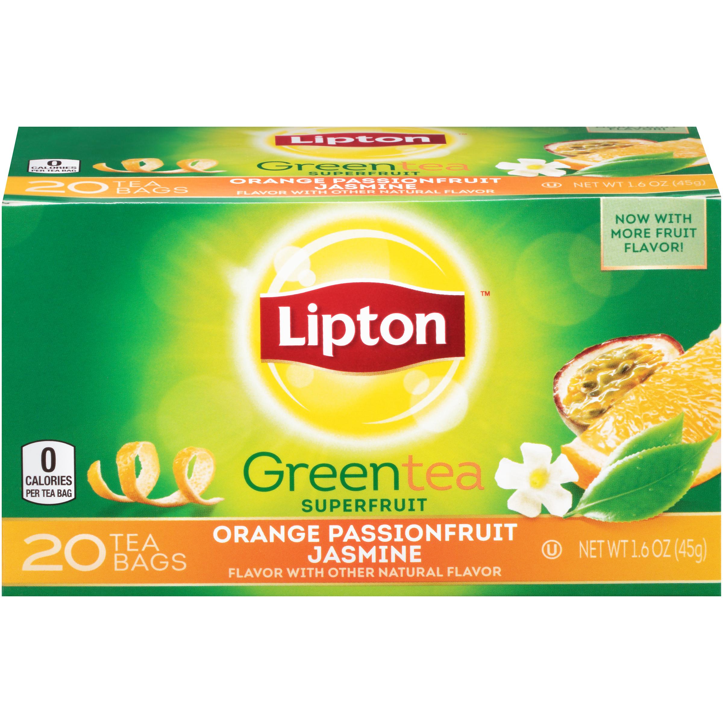 Lipton Green Tea Orange Passion Fruit And Jasmine 1.5 Oz