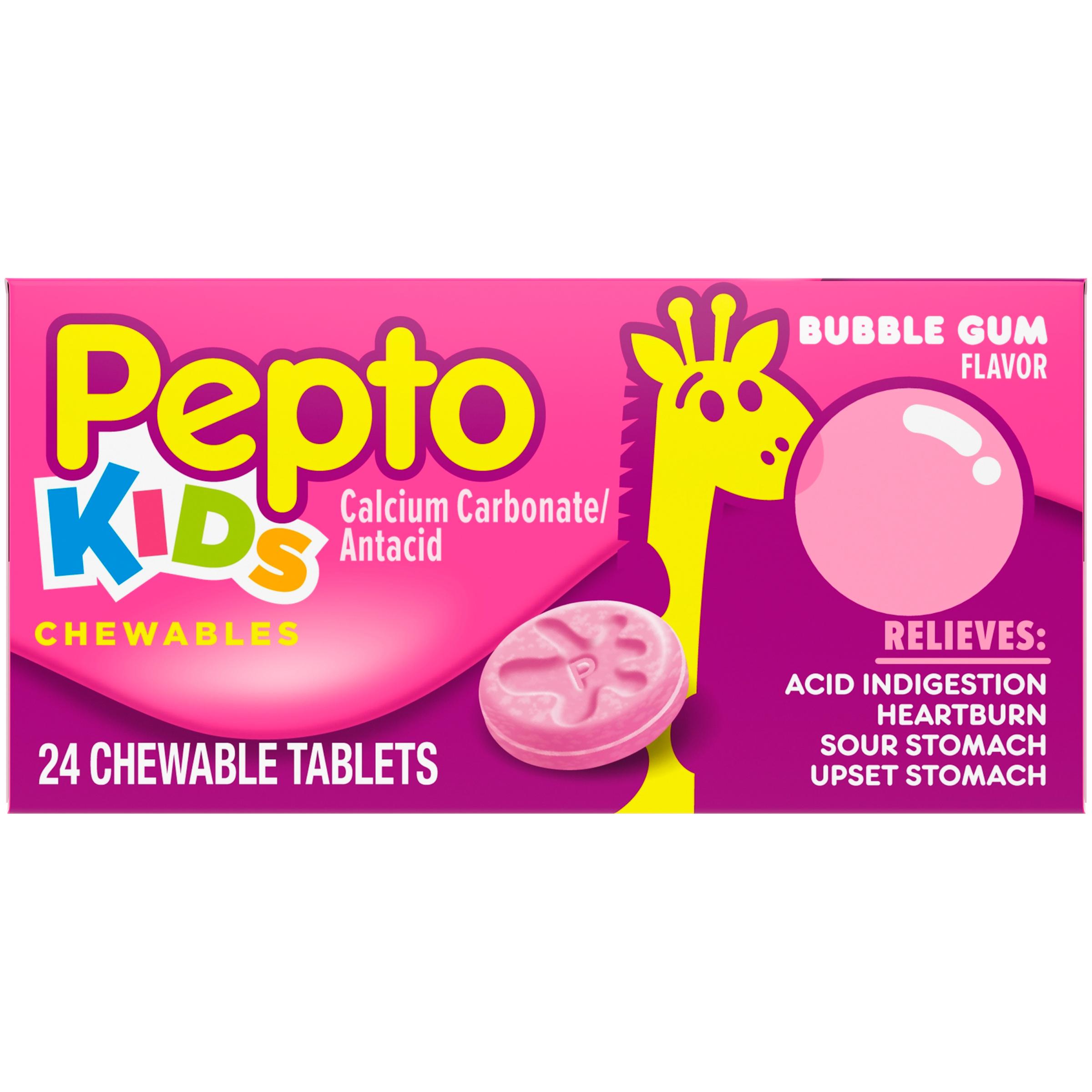 Pepto Bismol Childrens Pepto Calcium Carbonateantacid Bubble Gum