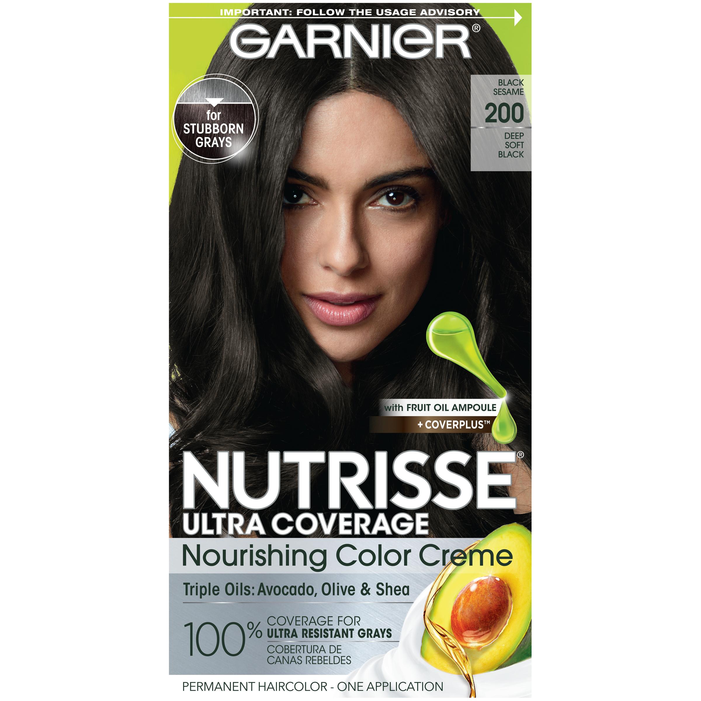Garnier Nutrisse Ultra Coverage Hair Color Deep Soft Black Black