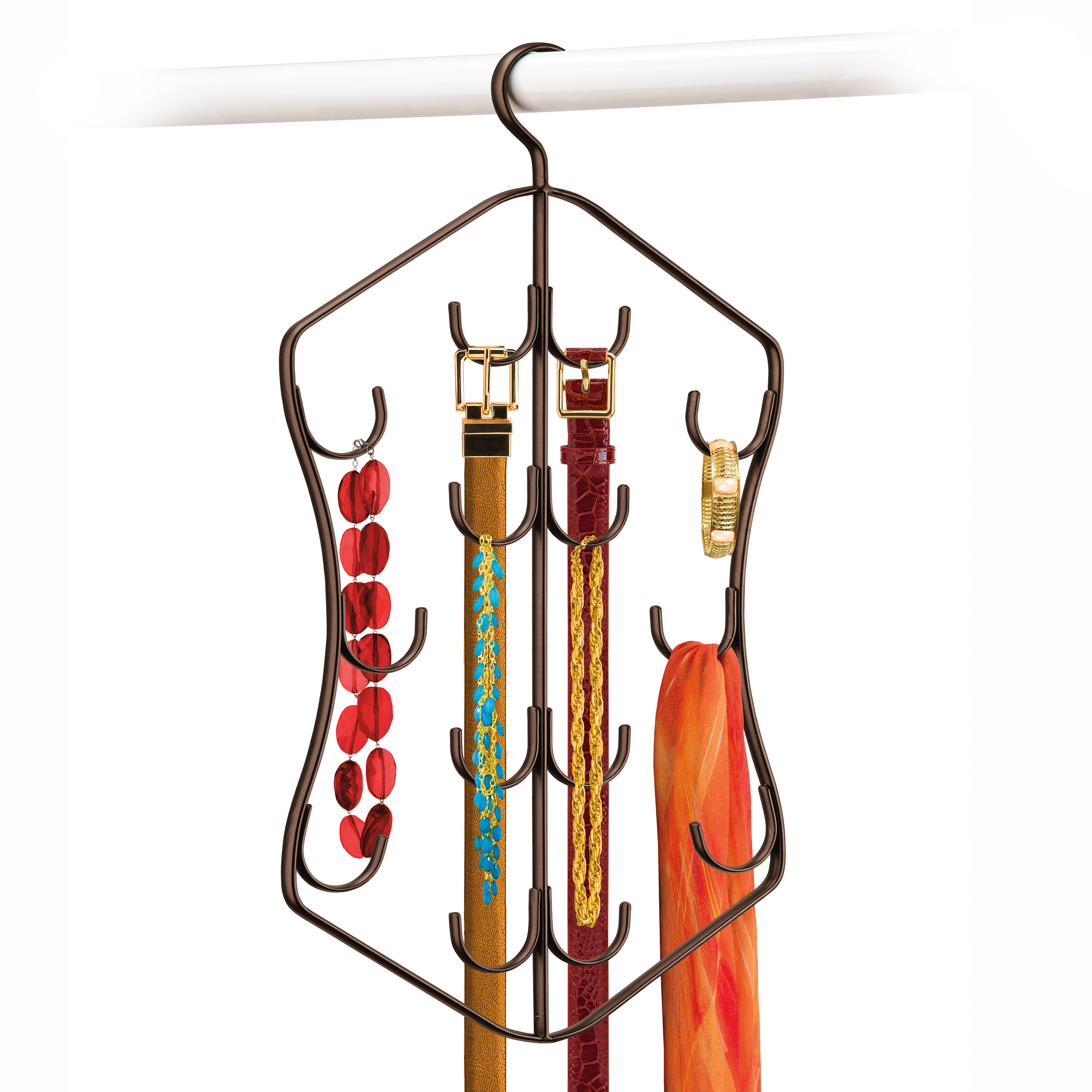 Hanging Accessory Organizer - 14 Hook