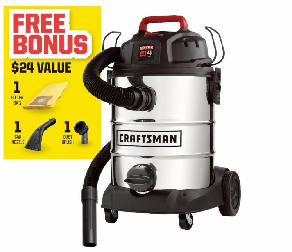 Craftsman 8 Gallon 4 Peak Hp Stainless Steel Wet Dry Vac