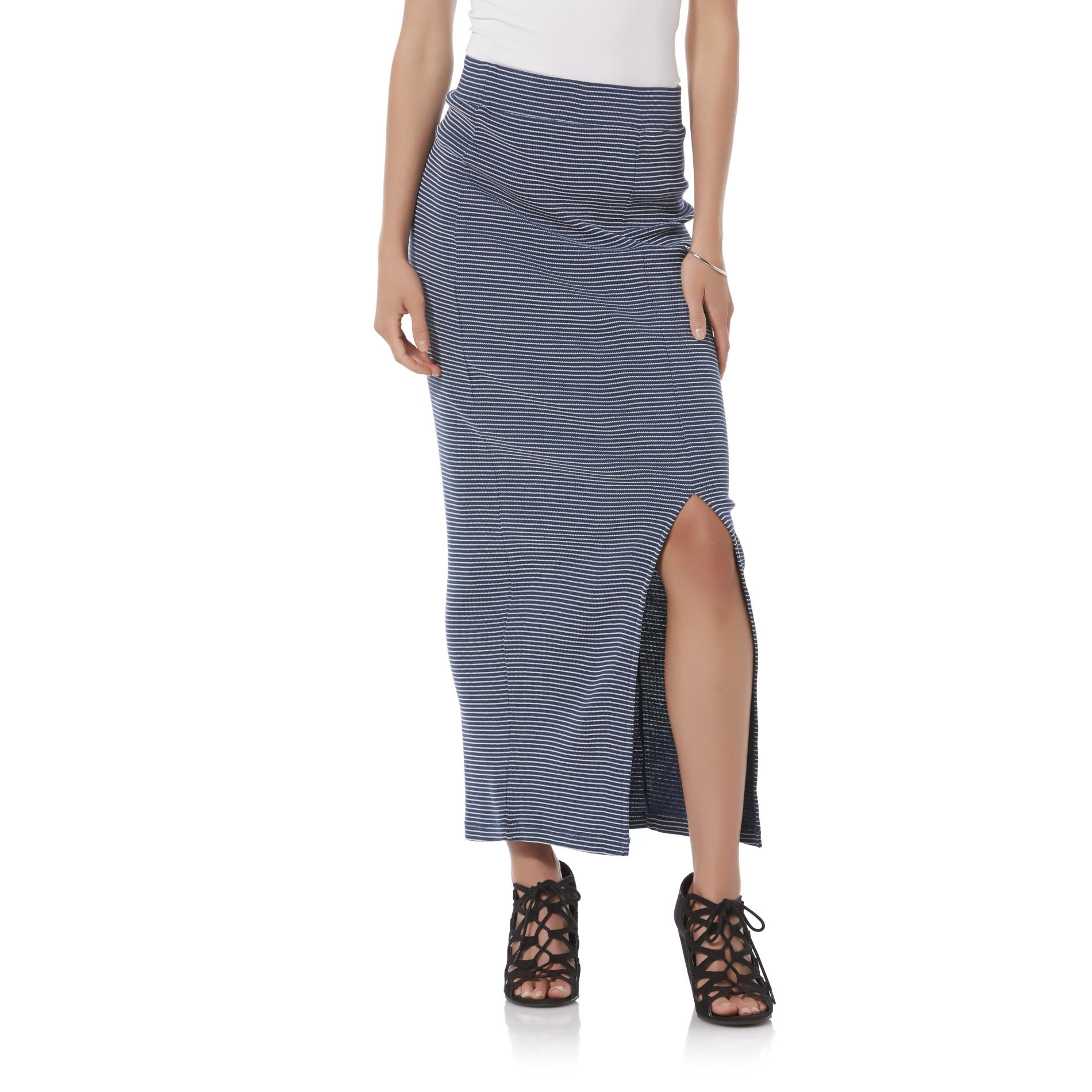 bongo junior s textured maxi skirt striped clothing