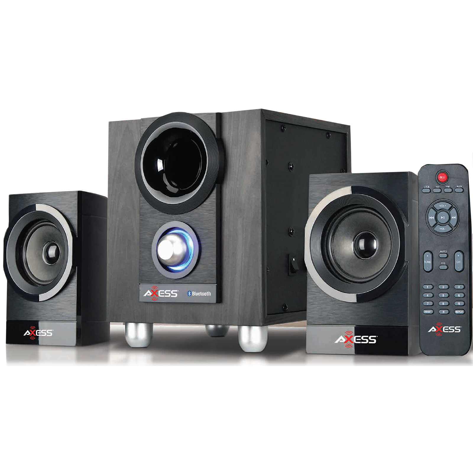 Image of Axess 97093166M 2.1 Mini Entertainment System with Bluetooth