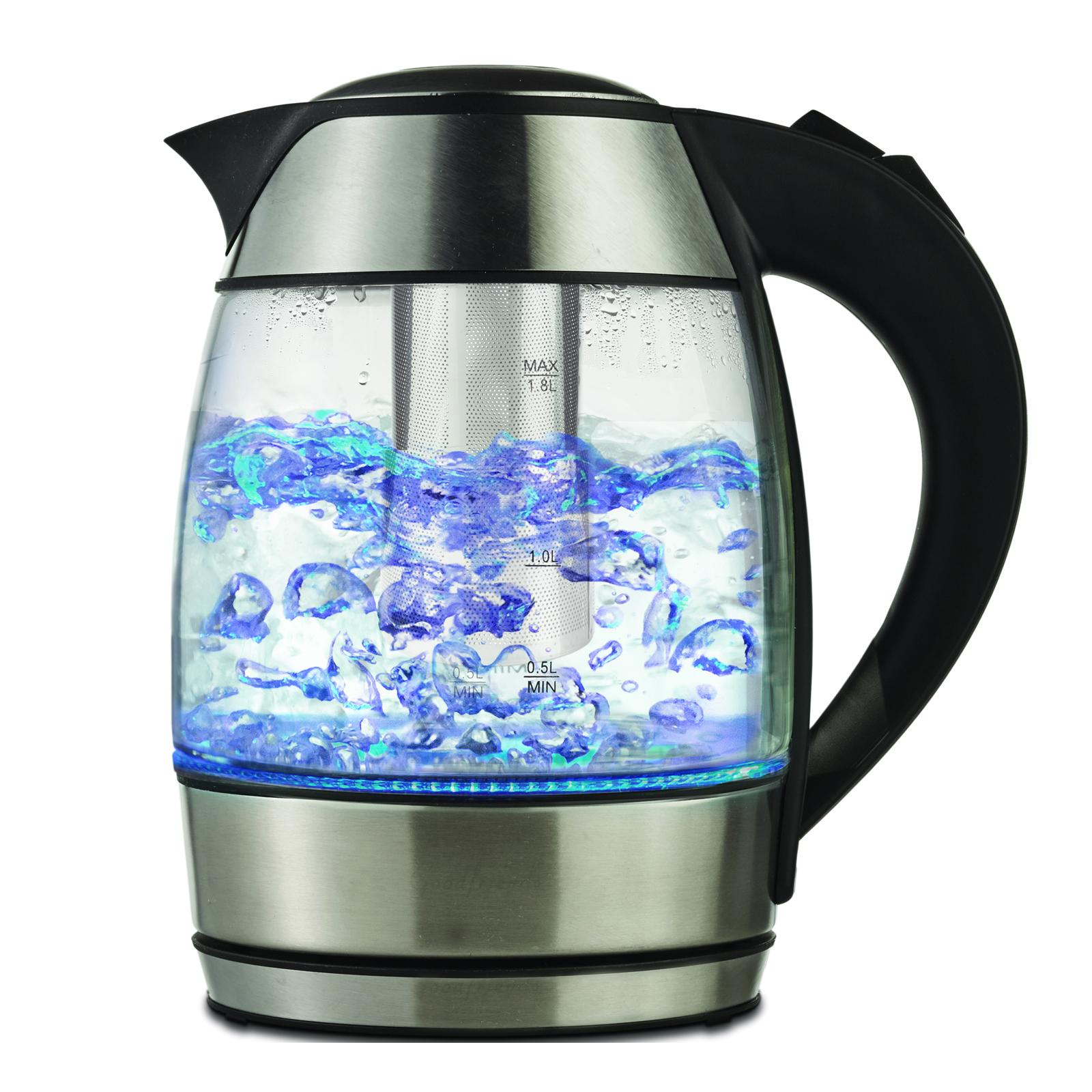 Brentwood 97094450M 1.8 L Borosilicate Glass Tea Kettles with Tea infuser PartNumber: SPM9650199822 KsnValue: 7492270 MfgPartNumber: 97094450M