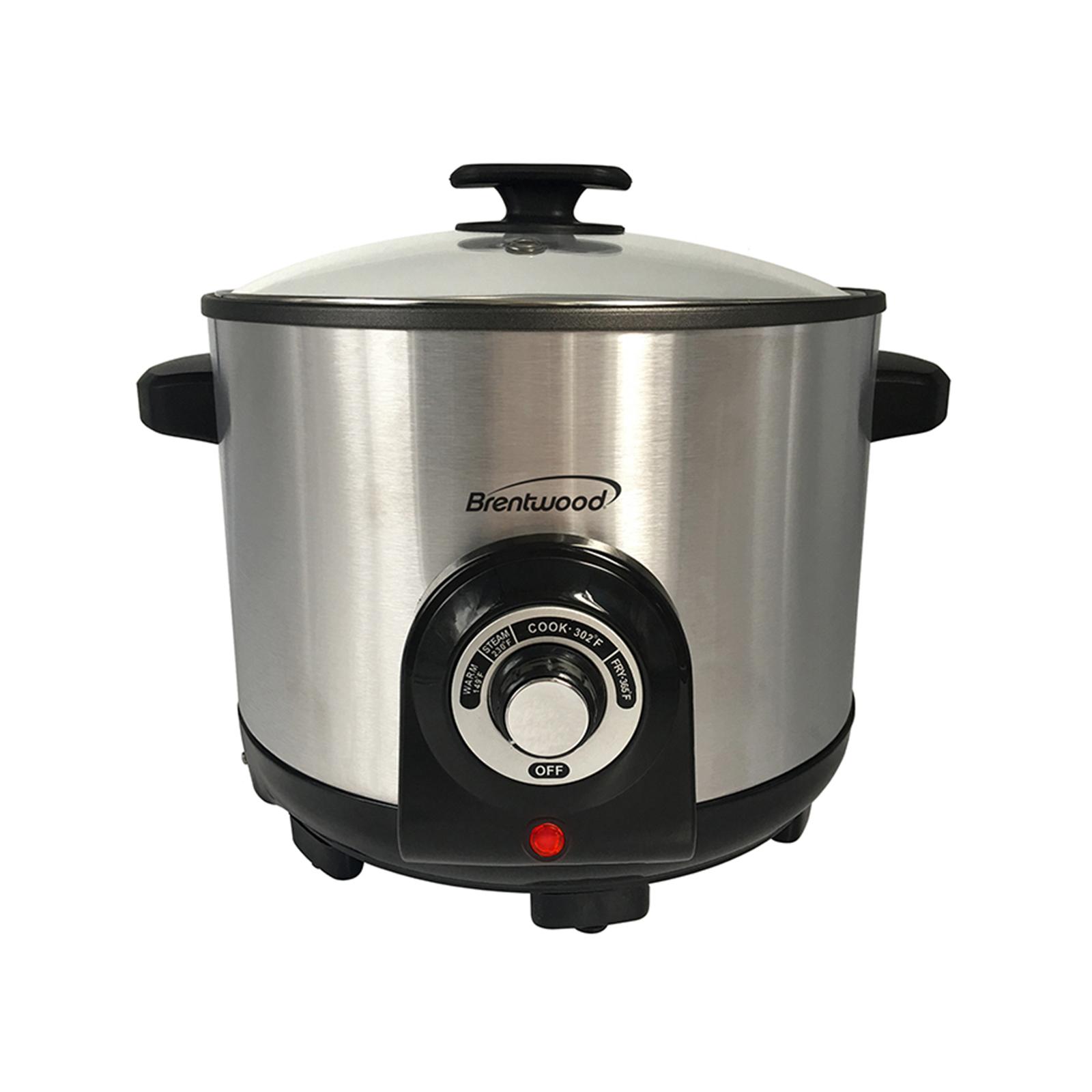 Image of Brentwood 970109862M 5.2 Quart Deep Fryer, Metallic silver