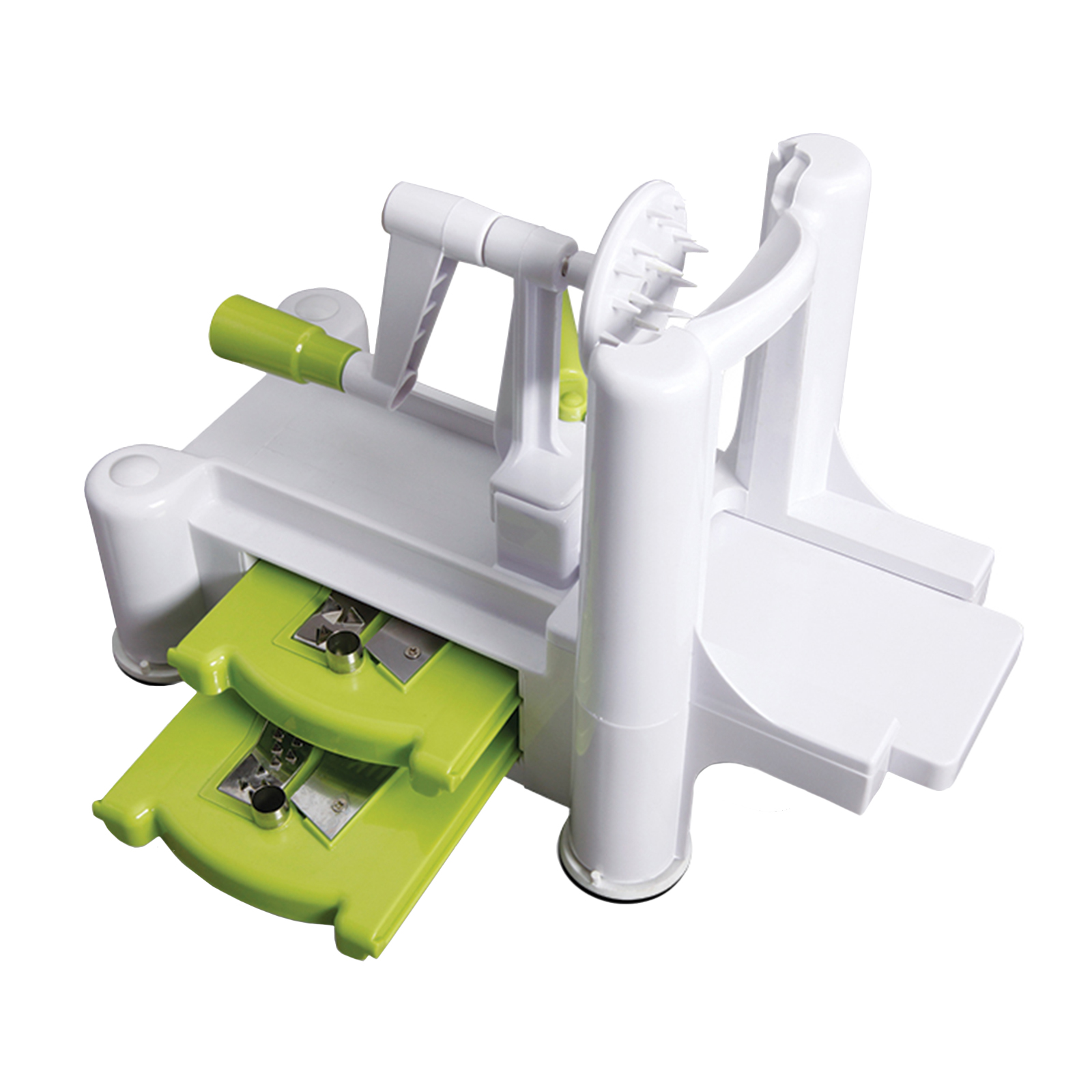 Image of Oster Kitchen Artistry 4-Piece Spiralizer Slicing & Grating Tools, Lime Green