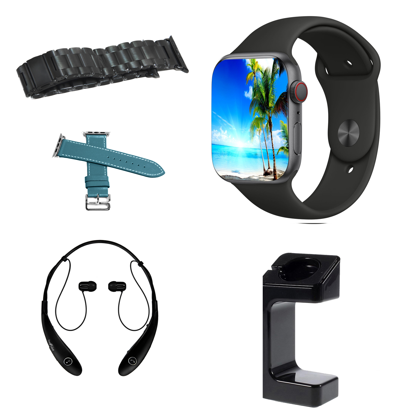 Image of Apple 970111129M Watch Series 4 44MM Cellular Space Gray with Black and Accessories