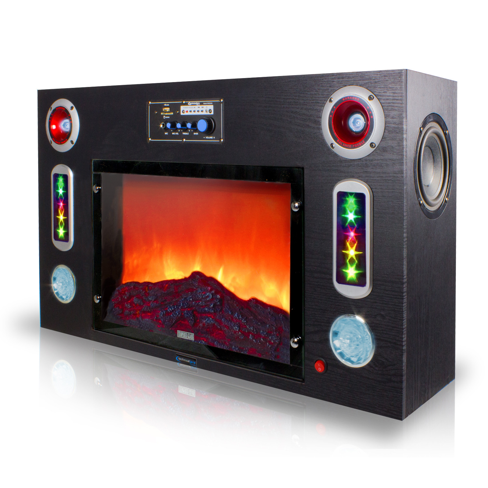 Technical Pro 97097034m Electric Fireplace Bluetooth