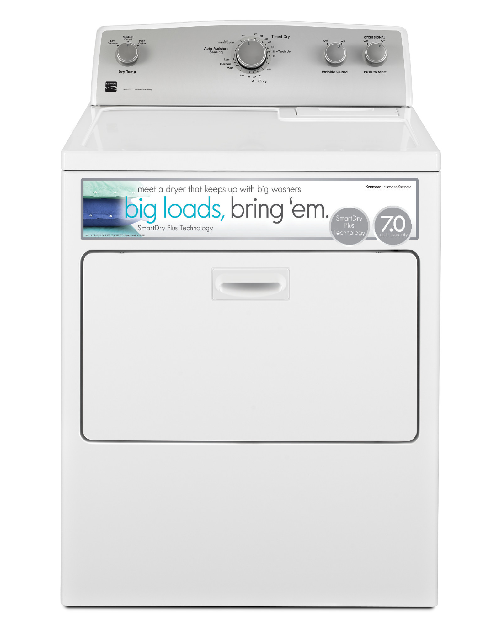 Kenmore-75132-7-0-cu-ft-Gas-Dryer-w-SmartDry-Plus-Technology-White
