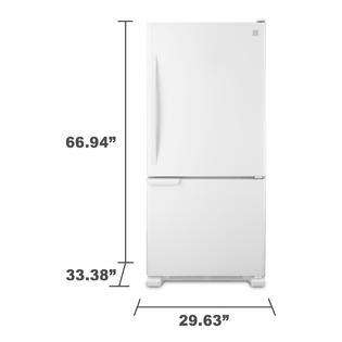 kenmore 69312 19 cu ft bottom freezer refrigerator white. Black Bedroom Furniture Sets. Home Design Ideas