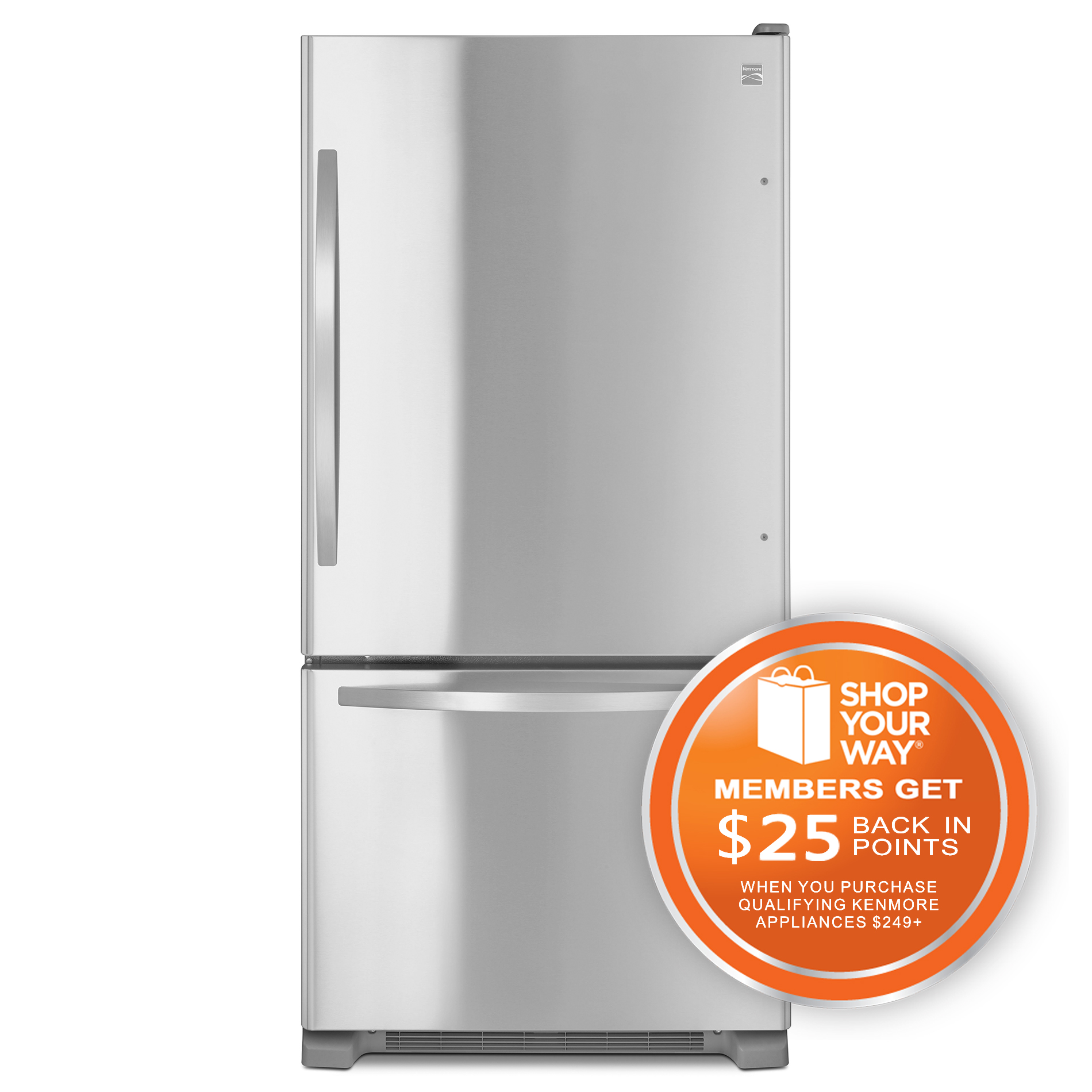 79343-22-cu-ft-Bottom-Freezer-Single-Door-Refrigerator-Stainless-Steel