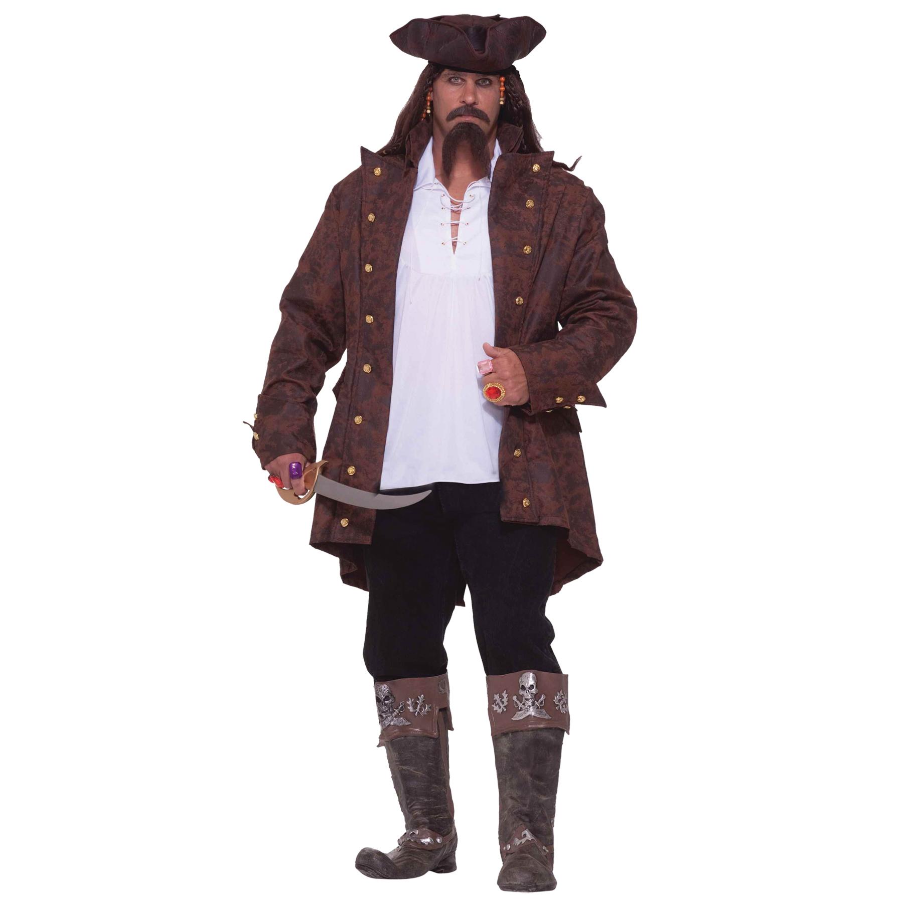 Men's Pirate Captain Costume PartNumber: 05022642000P KsnValue: 8735059 MfgPartNumber: FM64097