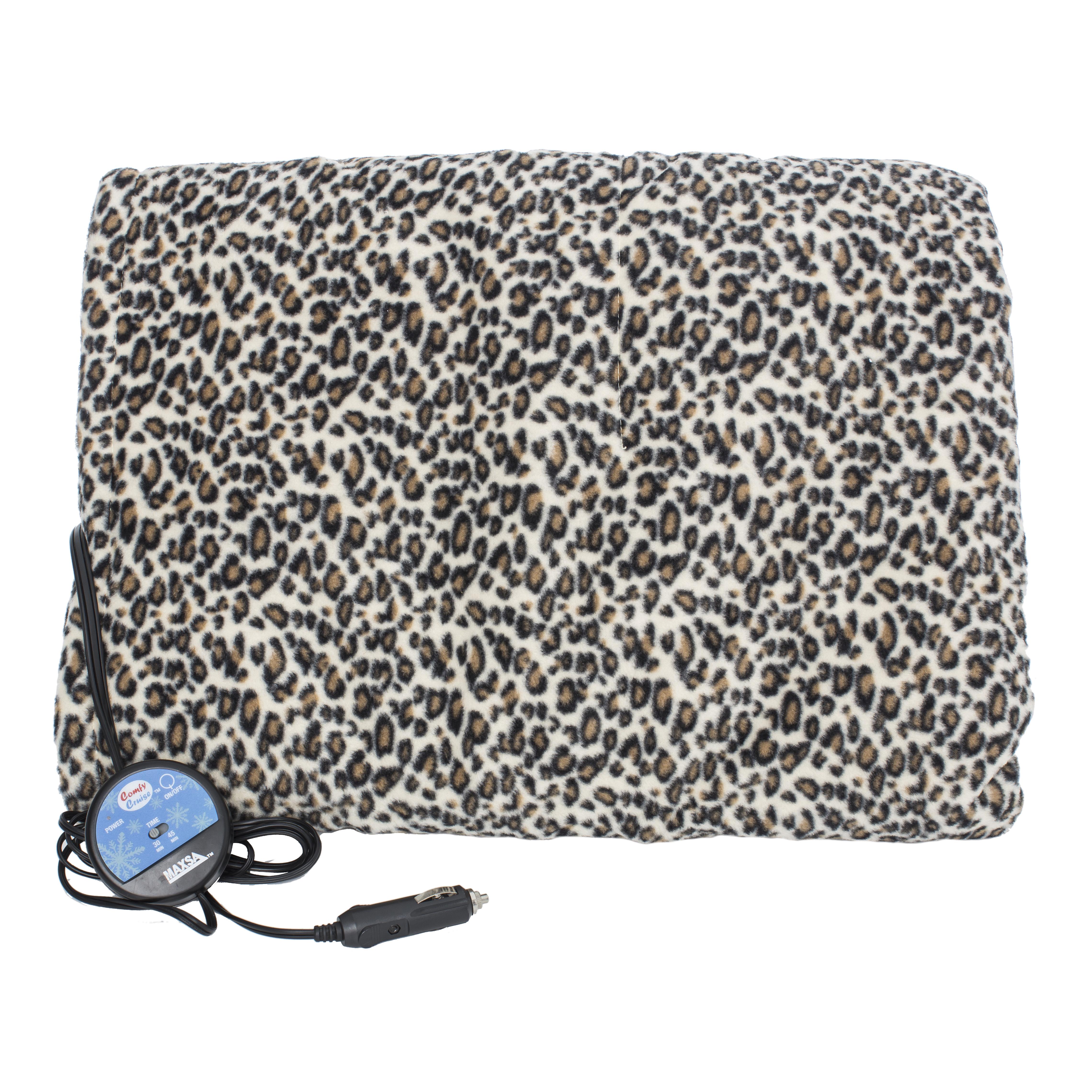 Maxsa Heated Car Blanket 20012 Leopard