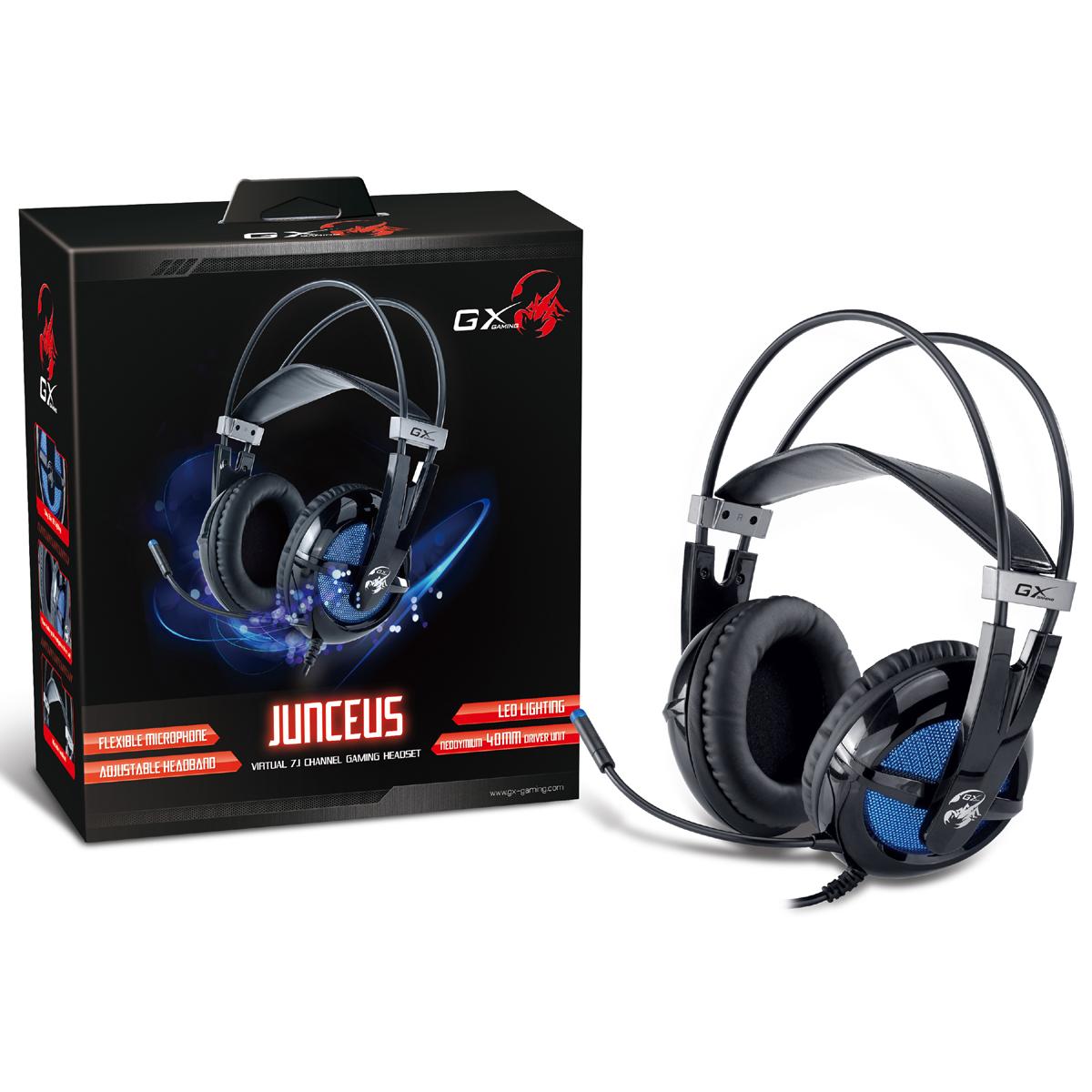 GX Gaming Virtual 7.1- Channel Junceus Gaming Headset HS-G650 - Black