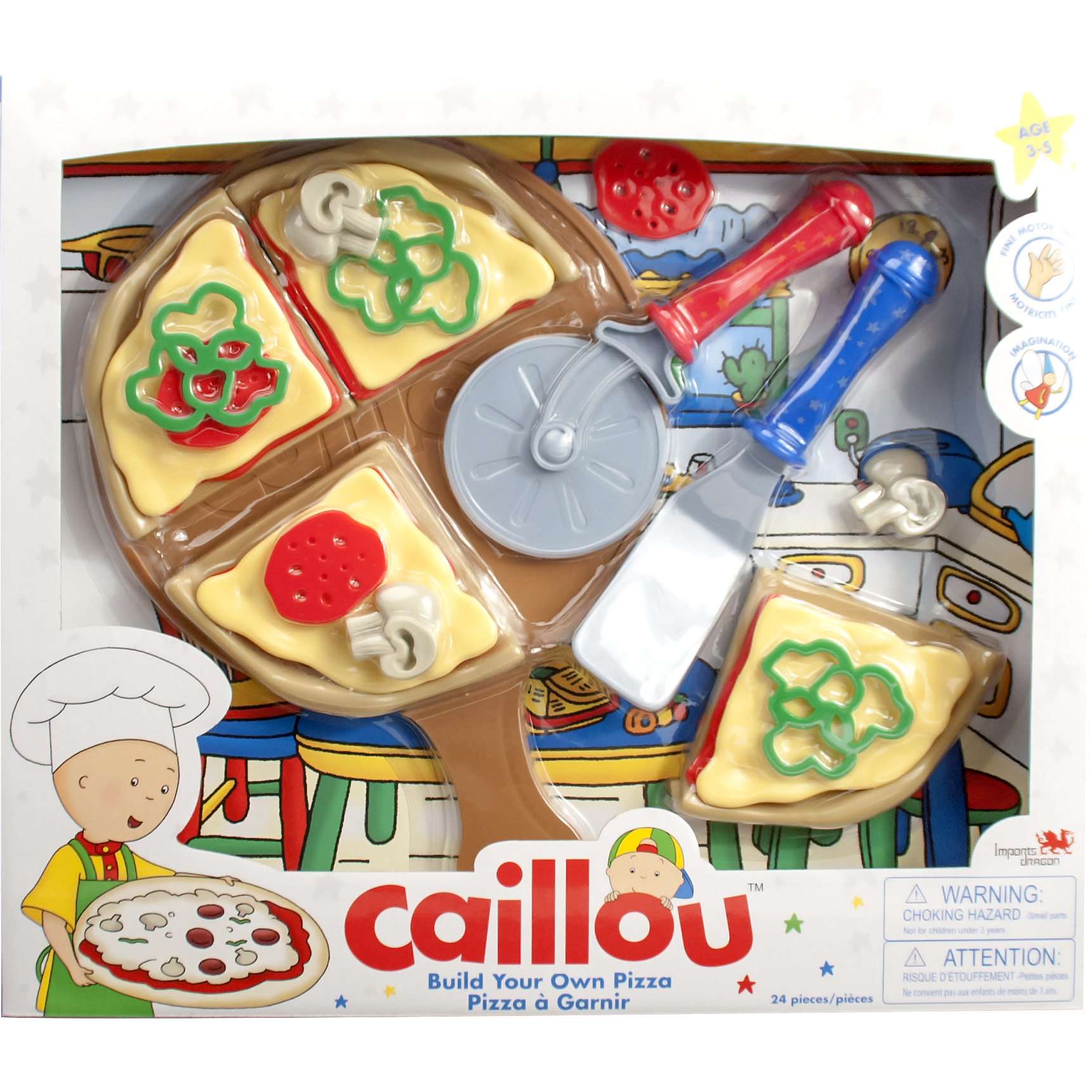 Caillou Id02860 Build Your Own Pizza Set Toys Amp Games