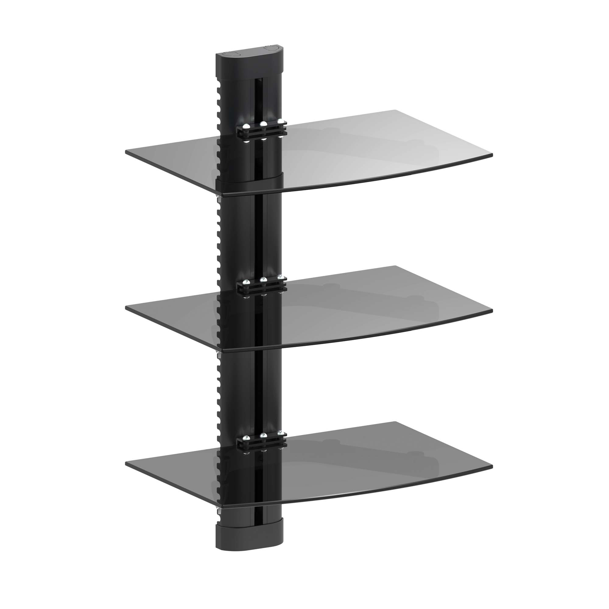 INLAND PRODUCTS ProHT 05441 Triple Shelf AV Components Wall Mount - Black PartNumber: 05741750000P KsnValue: 9079503 MfgPartNumber: 4INL05441