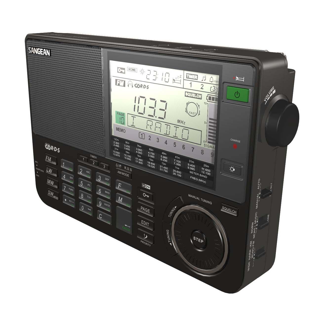 Sangean ATS-909BK FM-RBDS MW/LW/SW Radio - Black