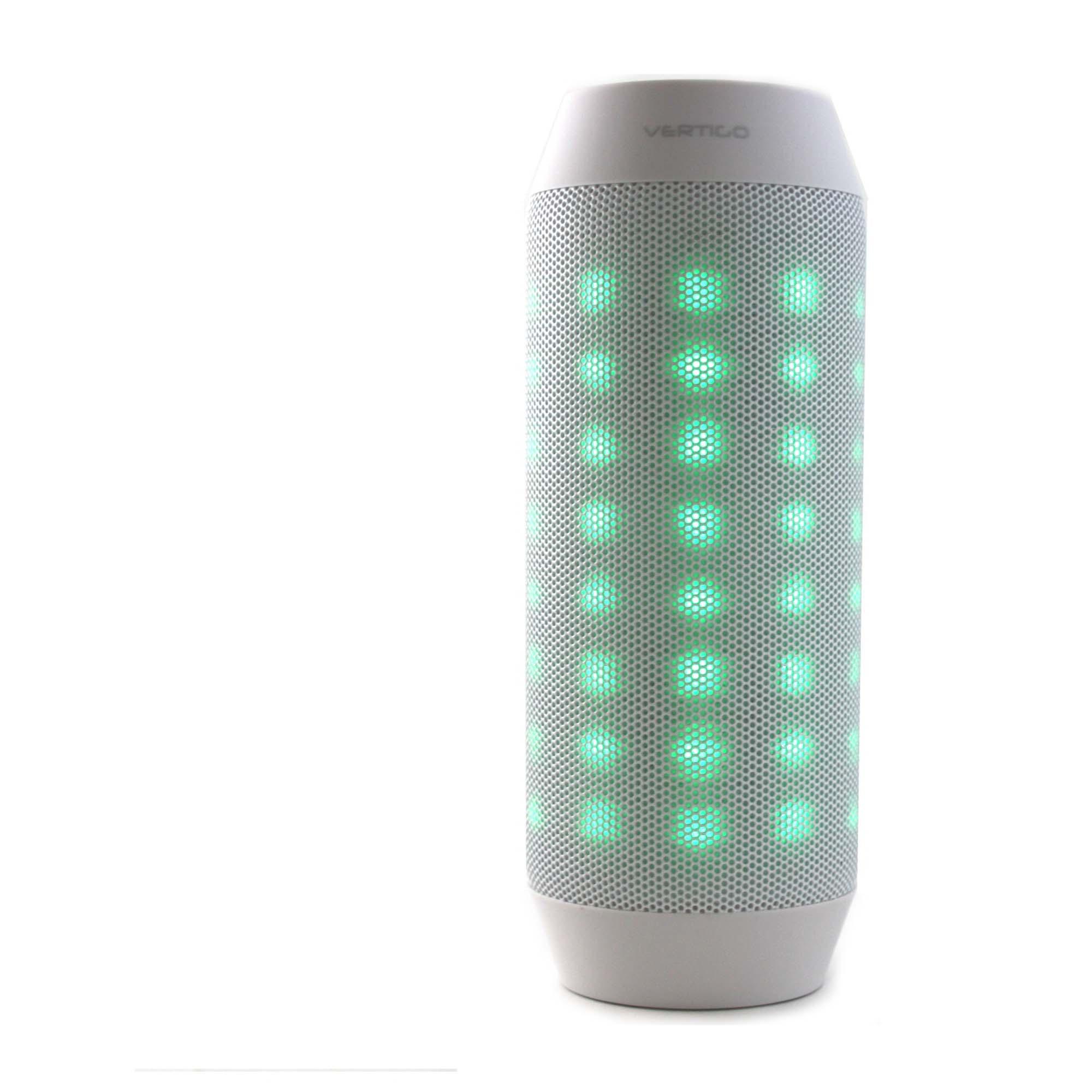 Vertigo Bluetooth LED Light Speaker - White