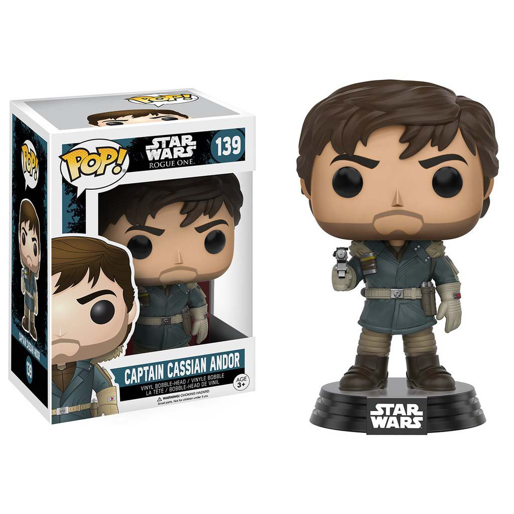 Funko Pop Star Wars Rogue One Captain Cassian Andor Vinyl Bobble Head Figure Toy PartNumber: 05219680000P
