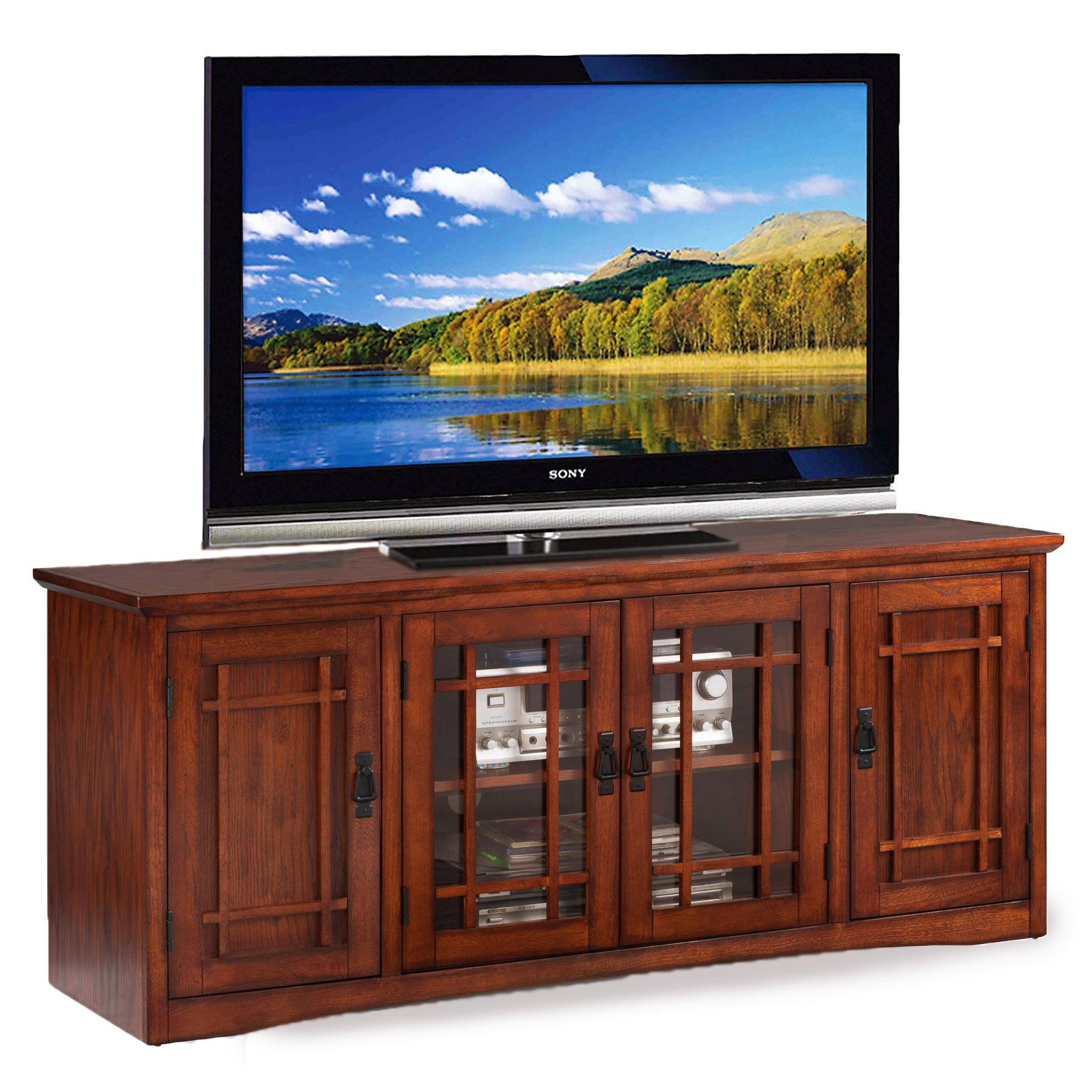 leick mission 60 w tv stand. Black Bedroom Furniture Sets. Home Design Ideas