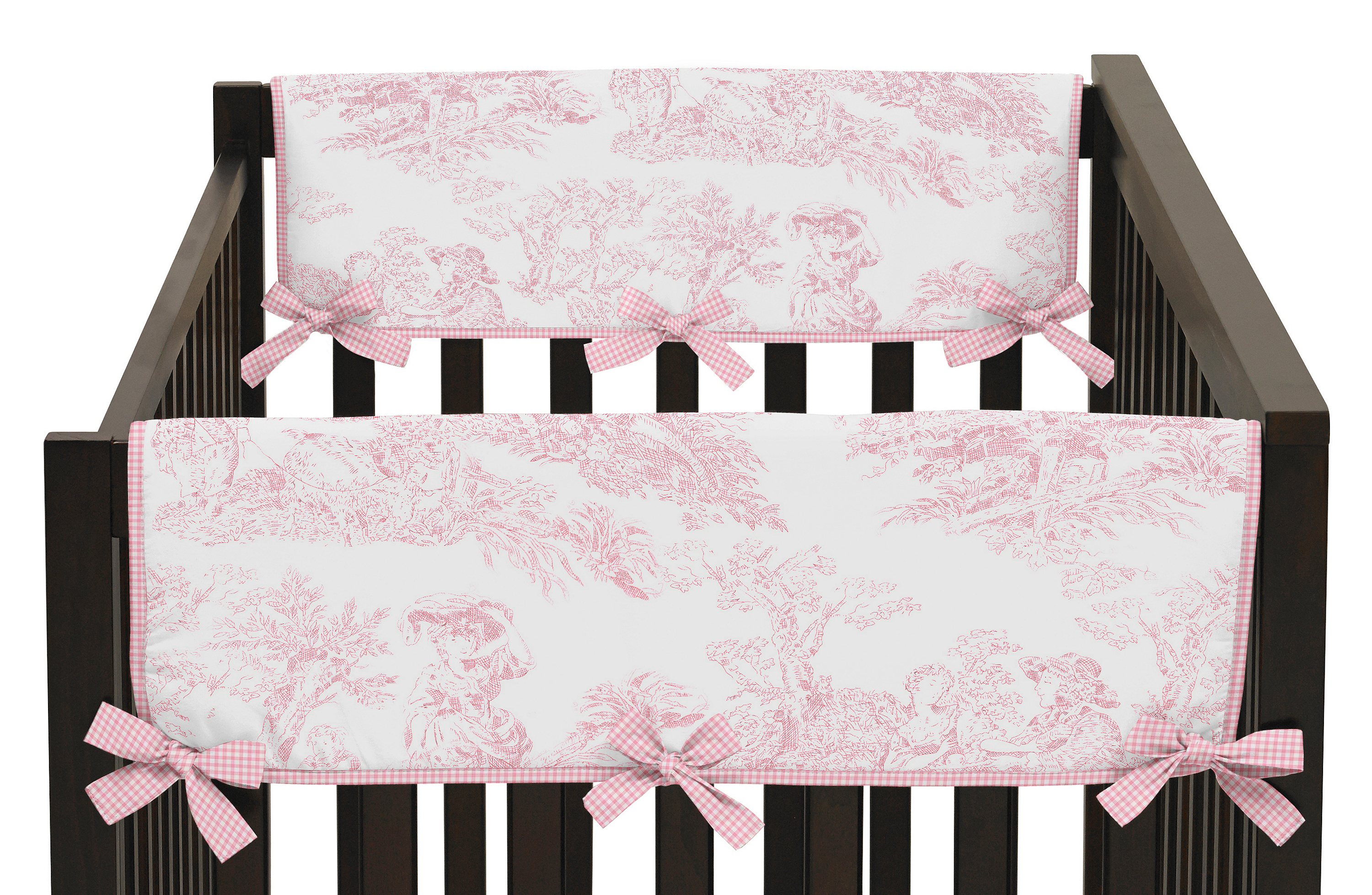 Sweet Jojo Designs Set of 2 Side Crib Rail Guard Covers for Pink French Toile Collection by Sweet Jojo Designs PartNumber: 04930836000P KsnValue: 8737586 MfgPartNumber: RSD-PToile