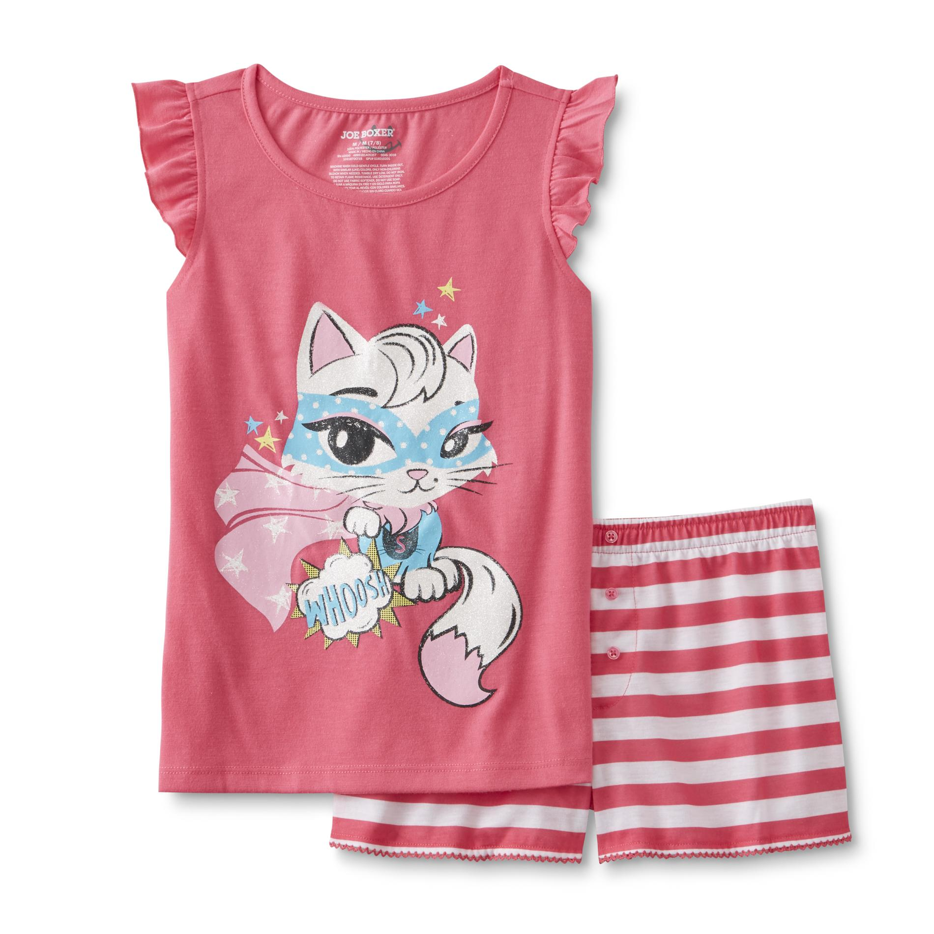 Joe Boxer Girl's Pajama Top & Shorts - Cat