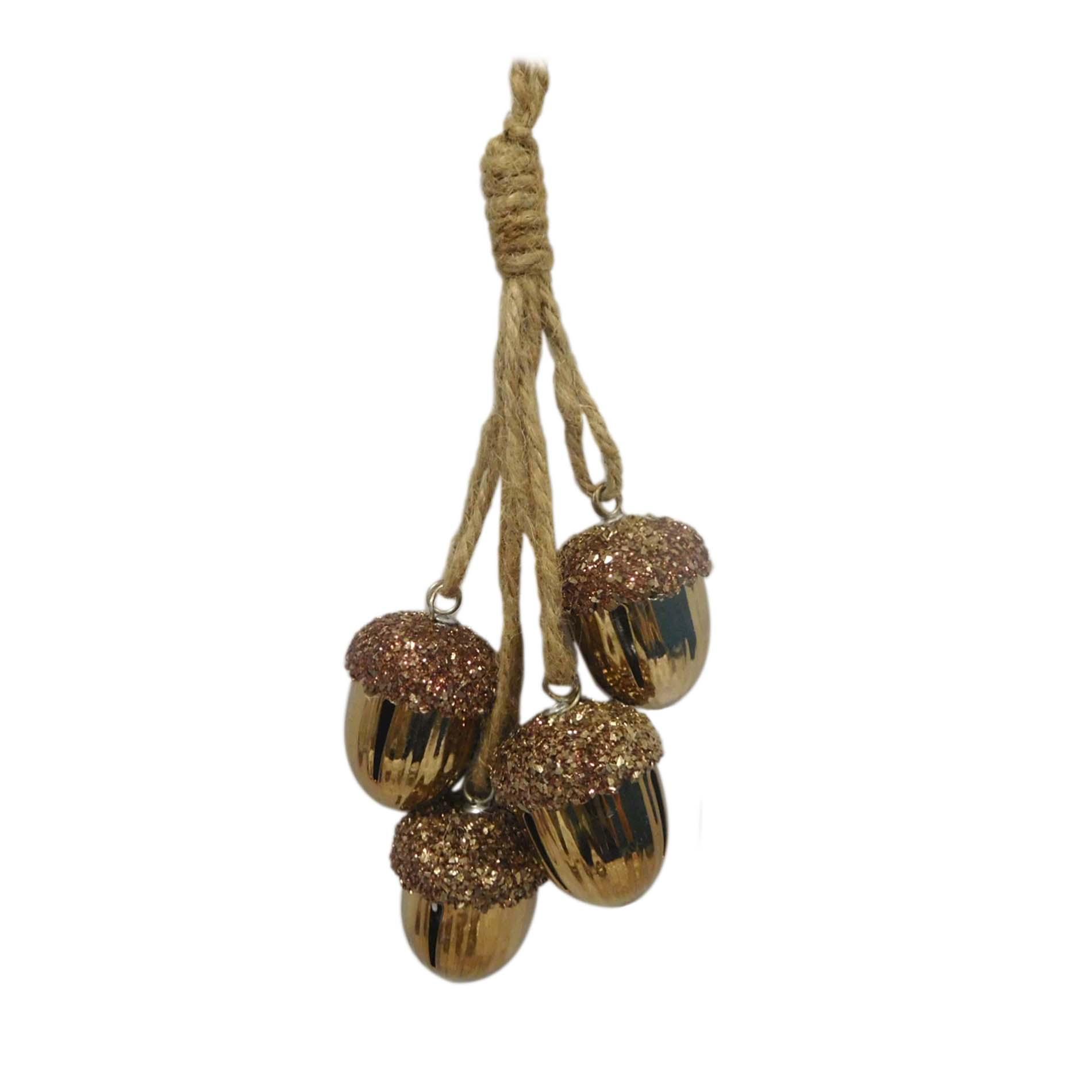 Jaclyn Smith Copper Acorn String Christmas Ornament, Grey im test