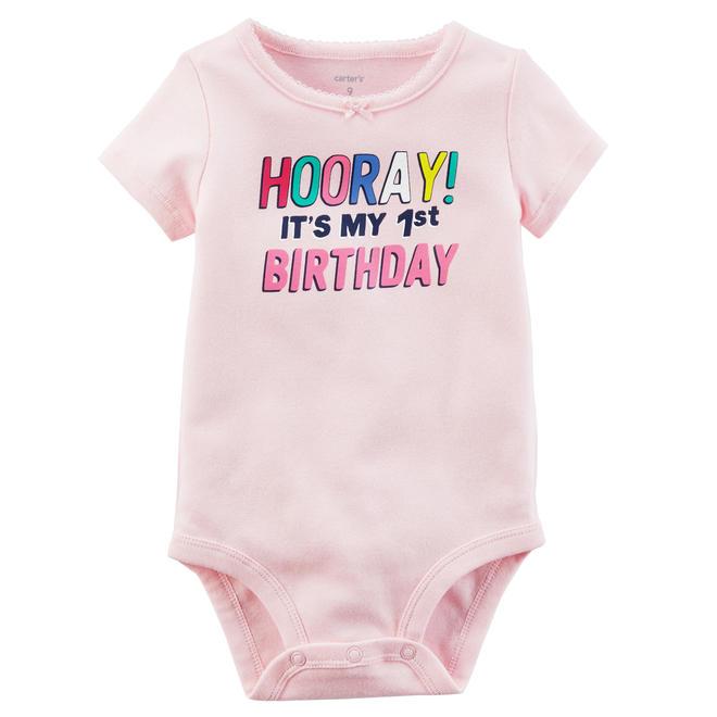 c1f949bcbd13 Carter s Infant Girls  Slogan Short-Sleeve Bodysuit - 1st Birthday