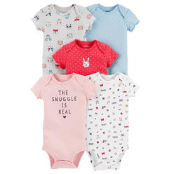27270830f Carter's Baby Girls' 5-Pack Printed Bodysuits