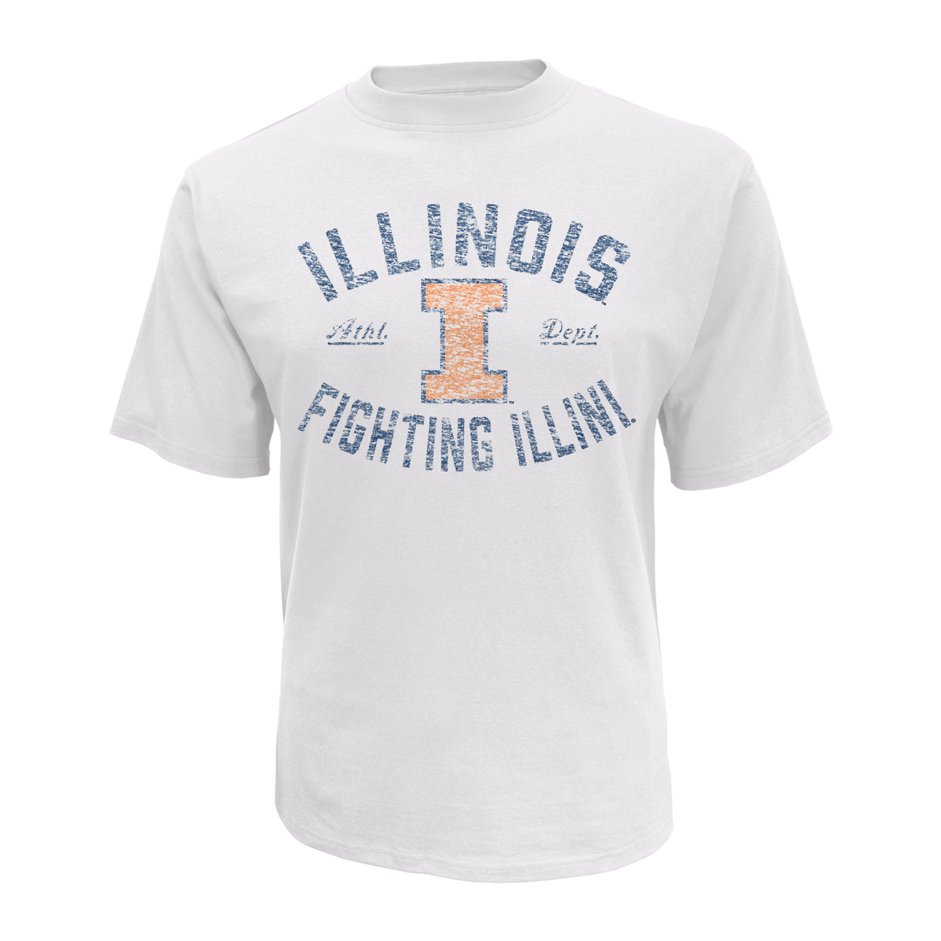 NCAA Men's Big & Tall Graphic T-Shirt - Illinois Fighting Illini, Size: 4XL