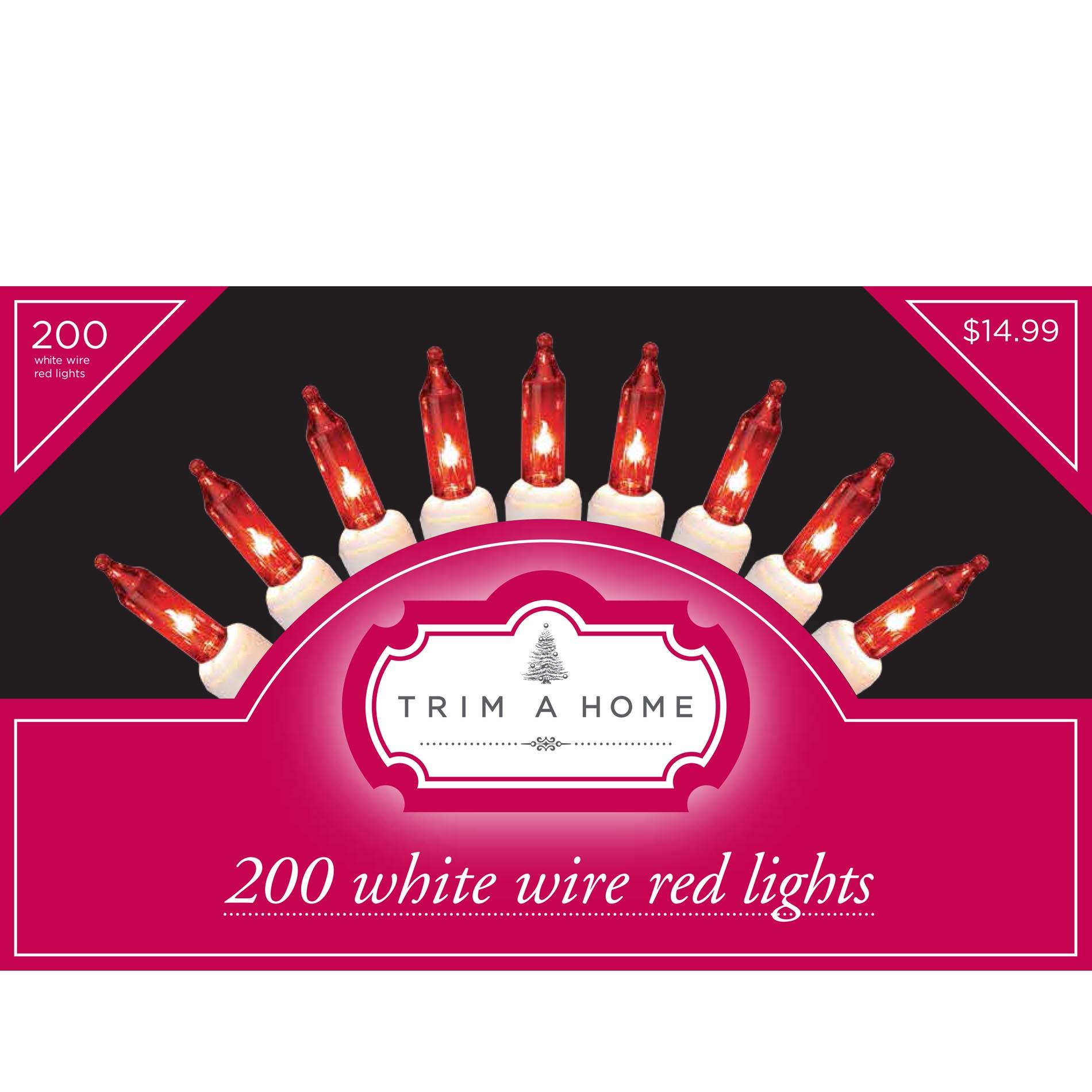 trim a home 200ct incandescent white wire light sets