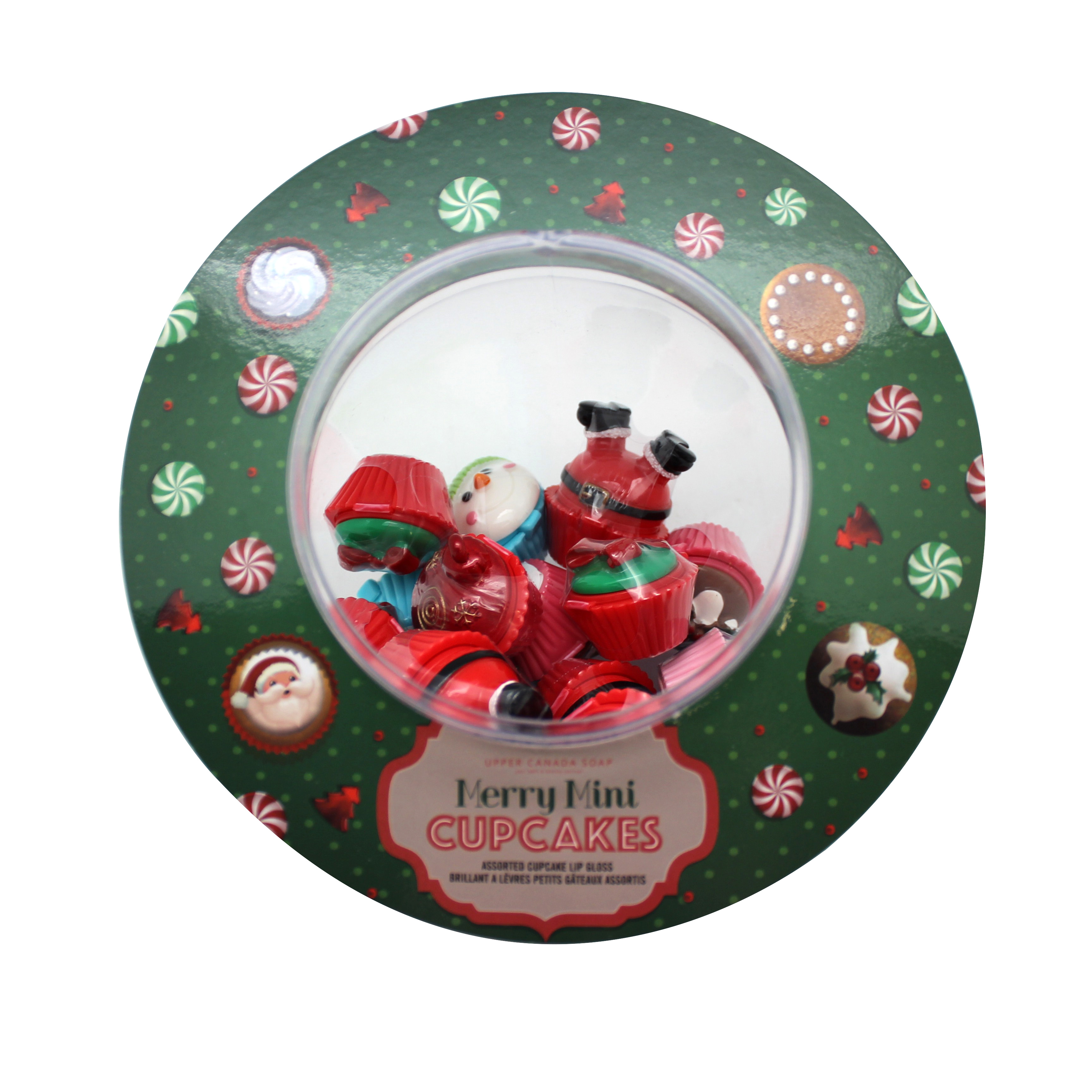 Upper Canada Soap Holiday Merry Mini Cupcake Lipgloss- Assorted PartNumber: 015W005455068001P KsnValue: 5455068 MfgPartNumber: 77931