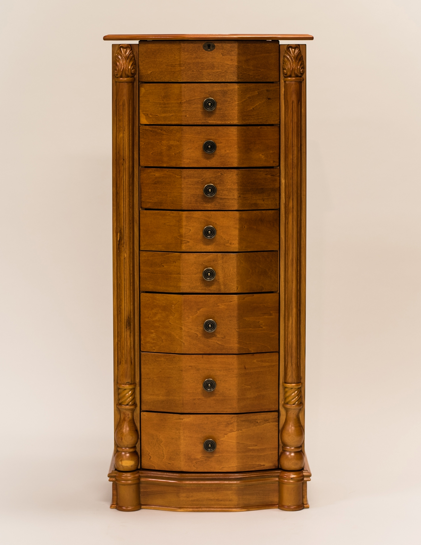 Hives honey louis xvi oak jewelry armoire