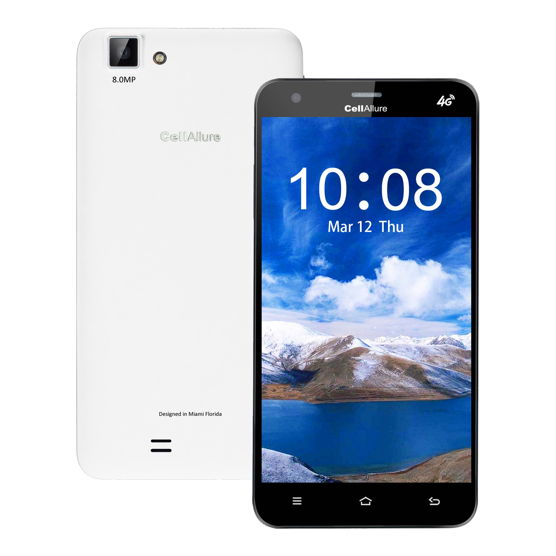 Take Offer CellAllure Cool 5.5 screen- OGS/ Dual SIM/ 4G (Hpsd+) Factory Unlocked Android Smartphone/ (Good Deal) White Before Special Offer Ends