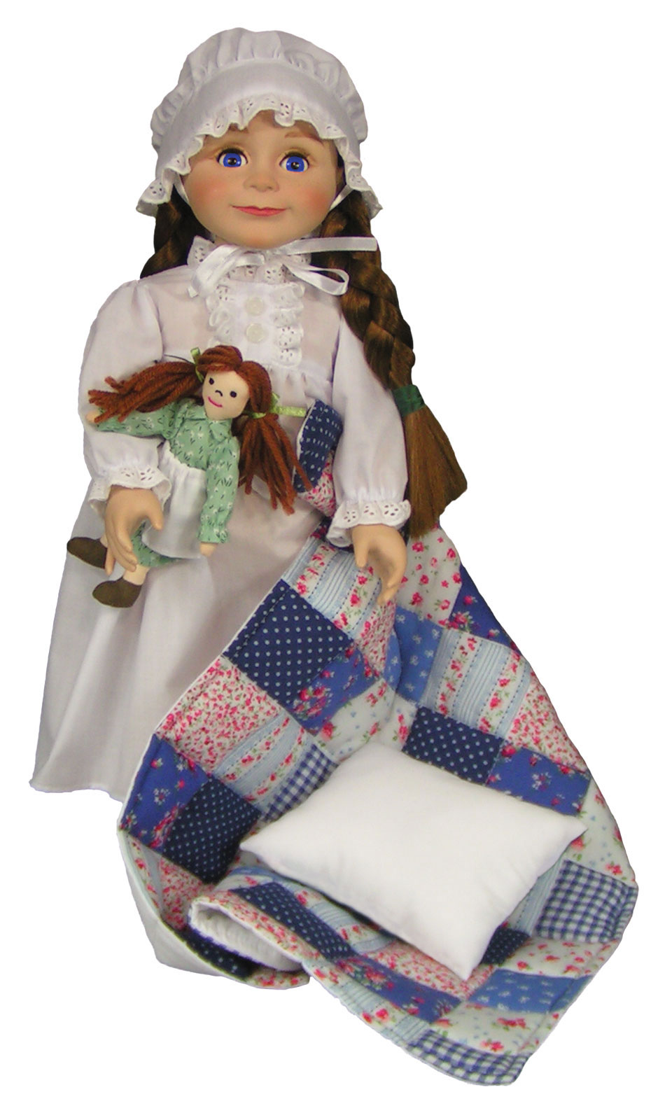 The Queen's Treasures Officially Licensed Little House on the Prairie 18 Inch Laura Ingalls Doll. Complete with a Nightgown, Rag ...